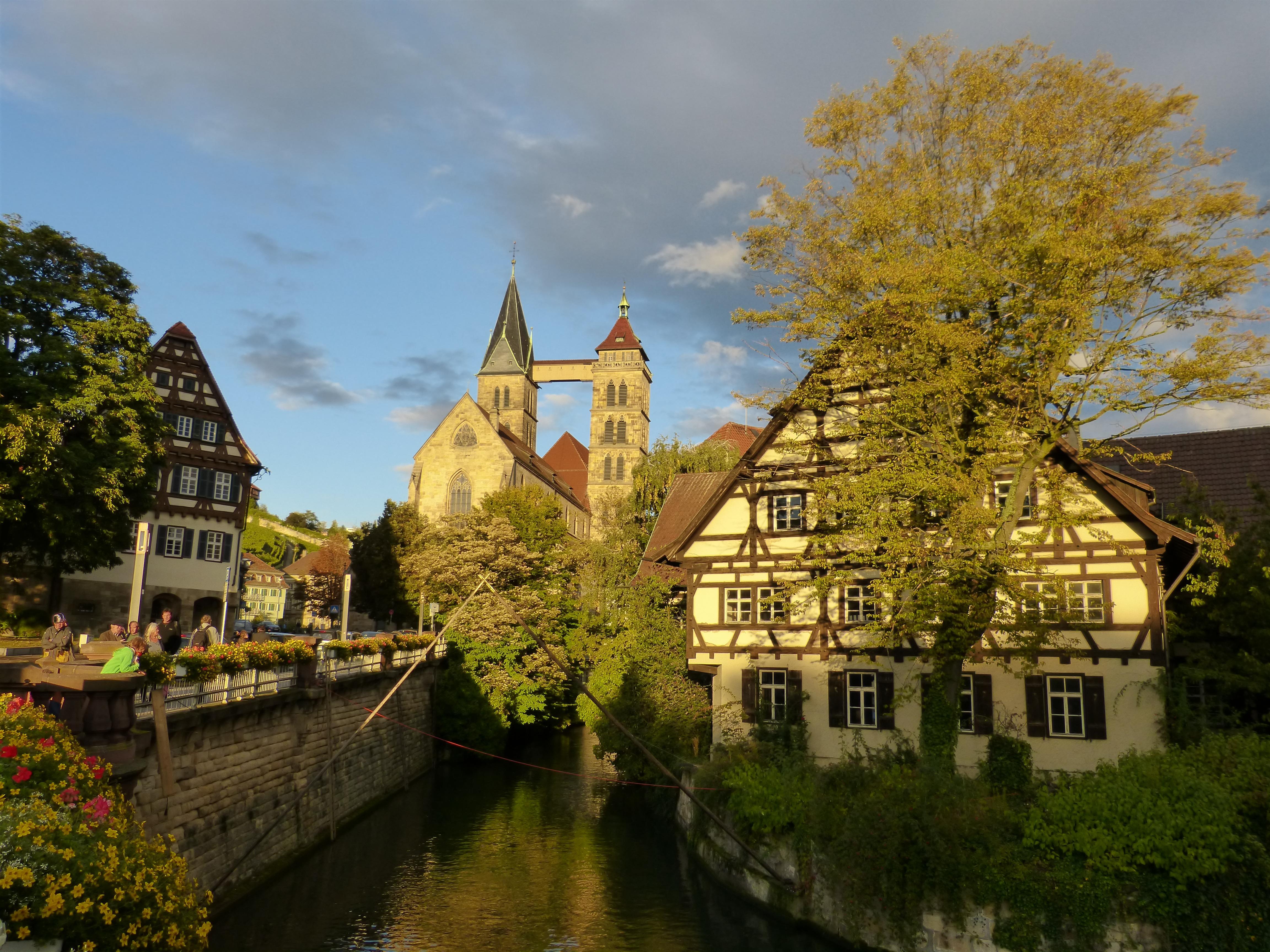 Kostenlose Foto Baum Haus Blume Gebäude Chateau Fluss Kanal