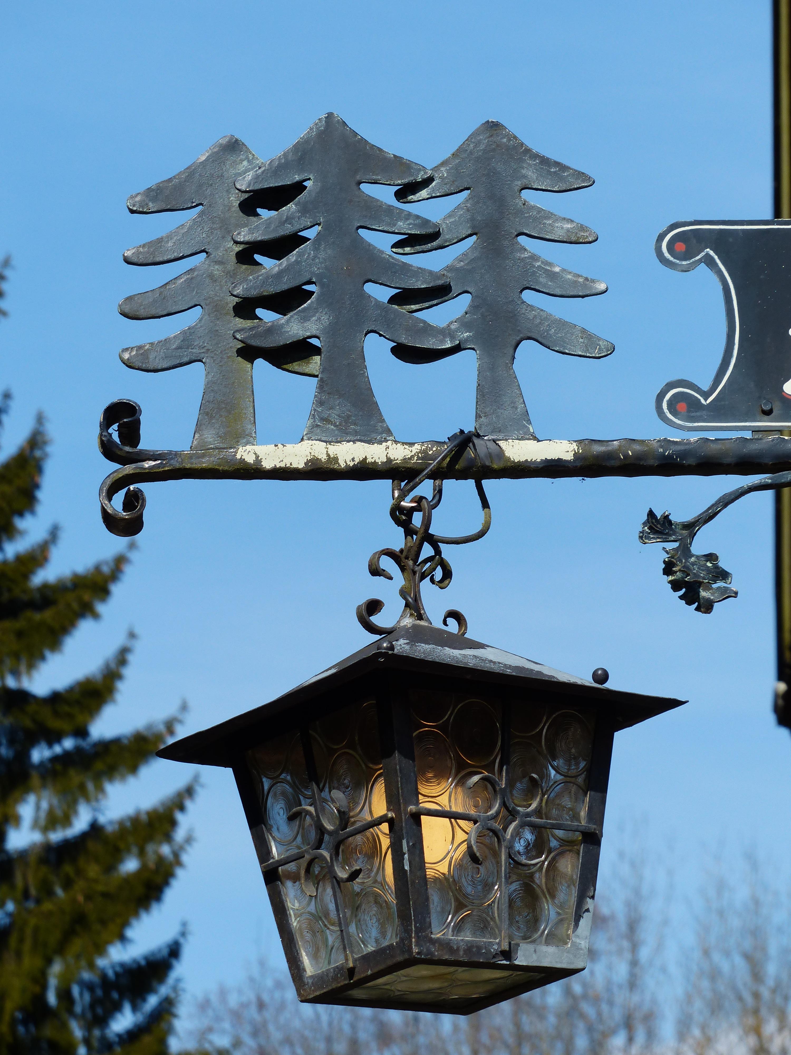 rbol ligero linterna torre luz de la calle lmpara navidad iluminacin lmpara hierro forjado herrera abetos