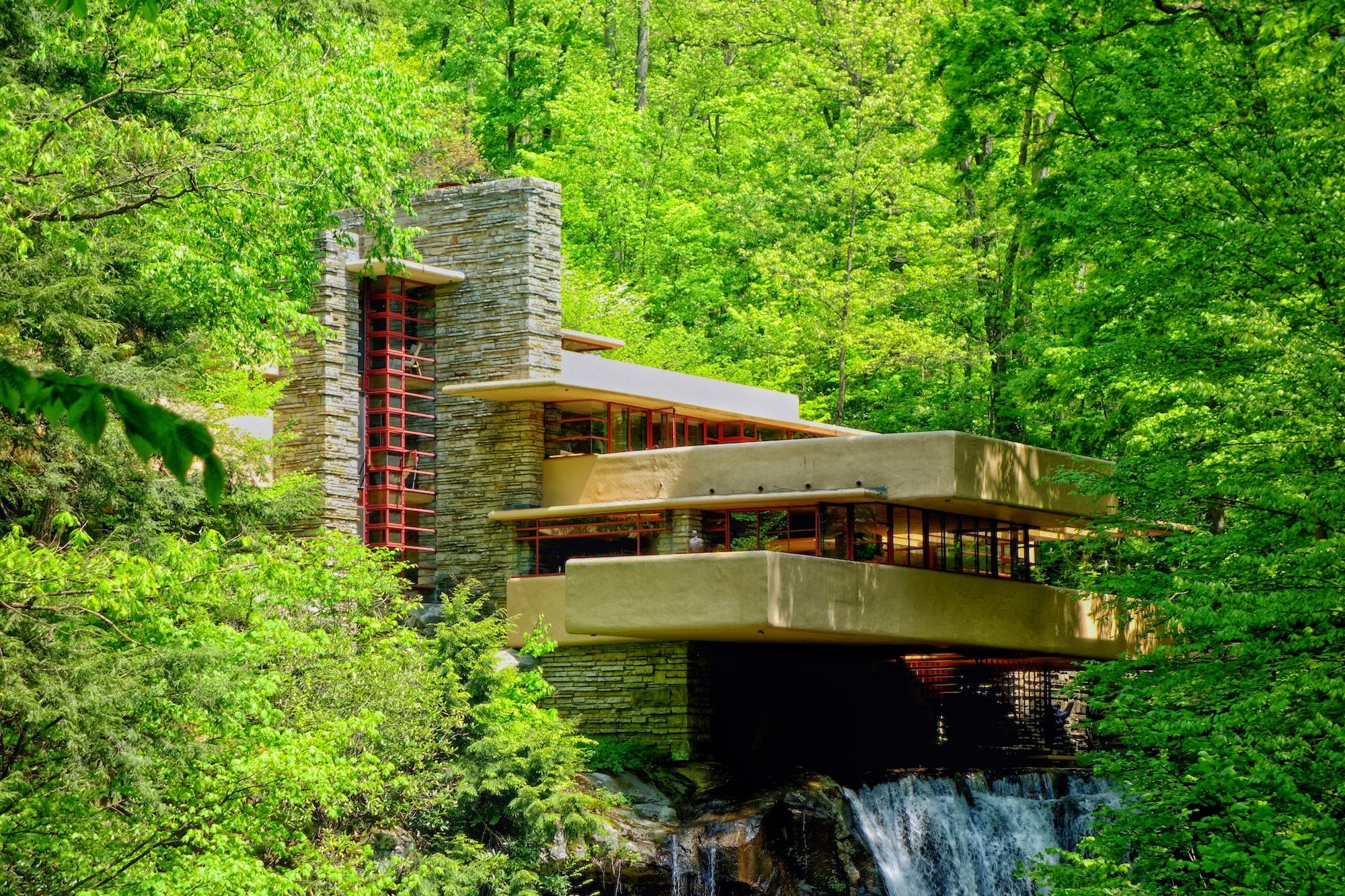 Images gratuites arbre la nature cascade architecture for Maison cascade