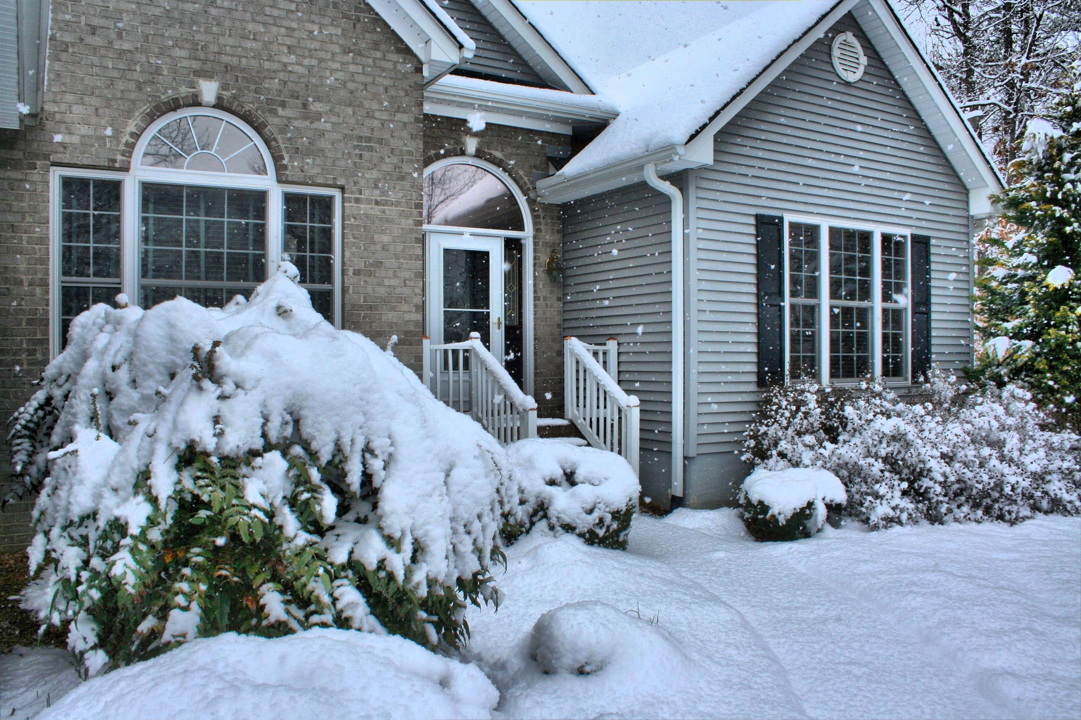 фотосессия зимой во дворе загородного дома