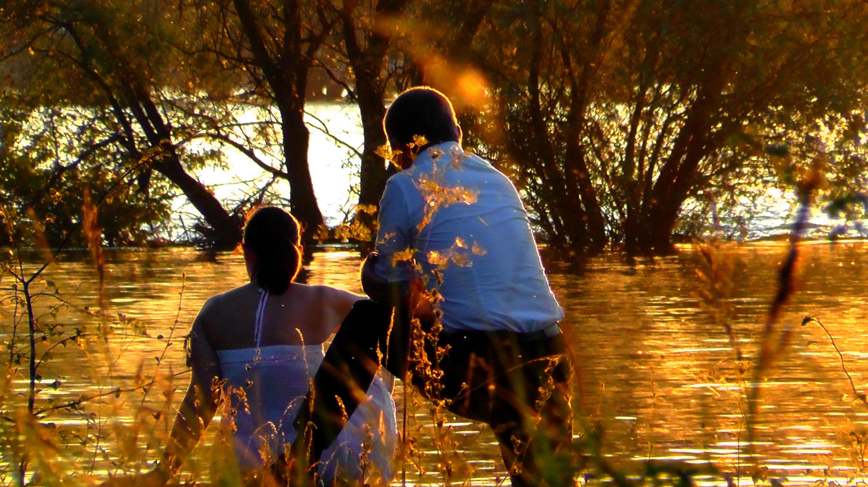 hình ảnh : cây, những người, Ánh sáng mặt trời, không khí, tối, Sự phản chiếu, Mùa thu, Vợ chồng, Lãng mạn, lãng mạn, nghỉ ngơi, Tình cảm, Quan hệ, Người ...