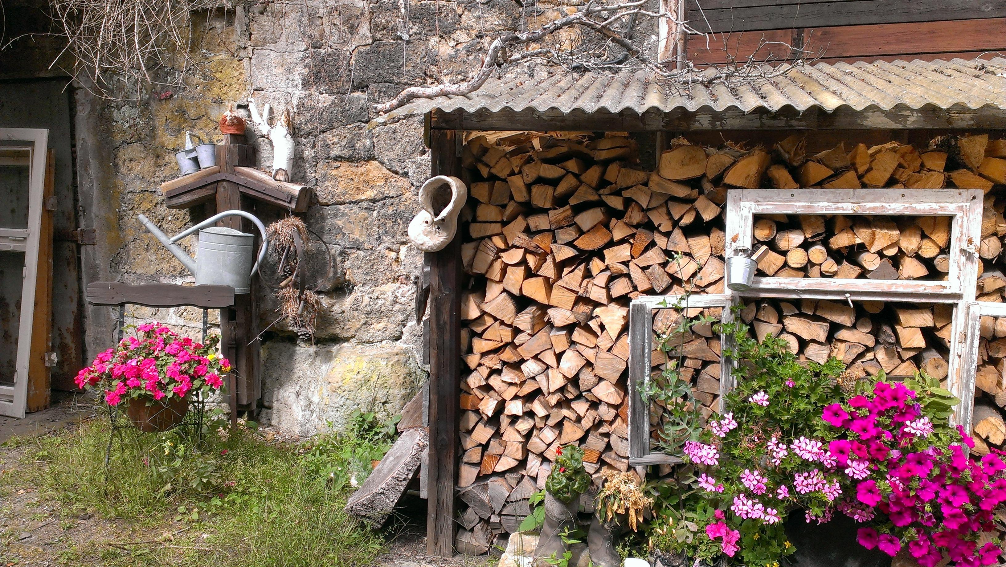 Wonderful Baum Pflanze Haus Blume Fenster Atmosphäre Dorf Dekoration Frühling Hütte  Romantik Fassade Steinwand Hintergrund Schönheit Sächsische