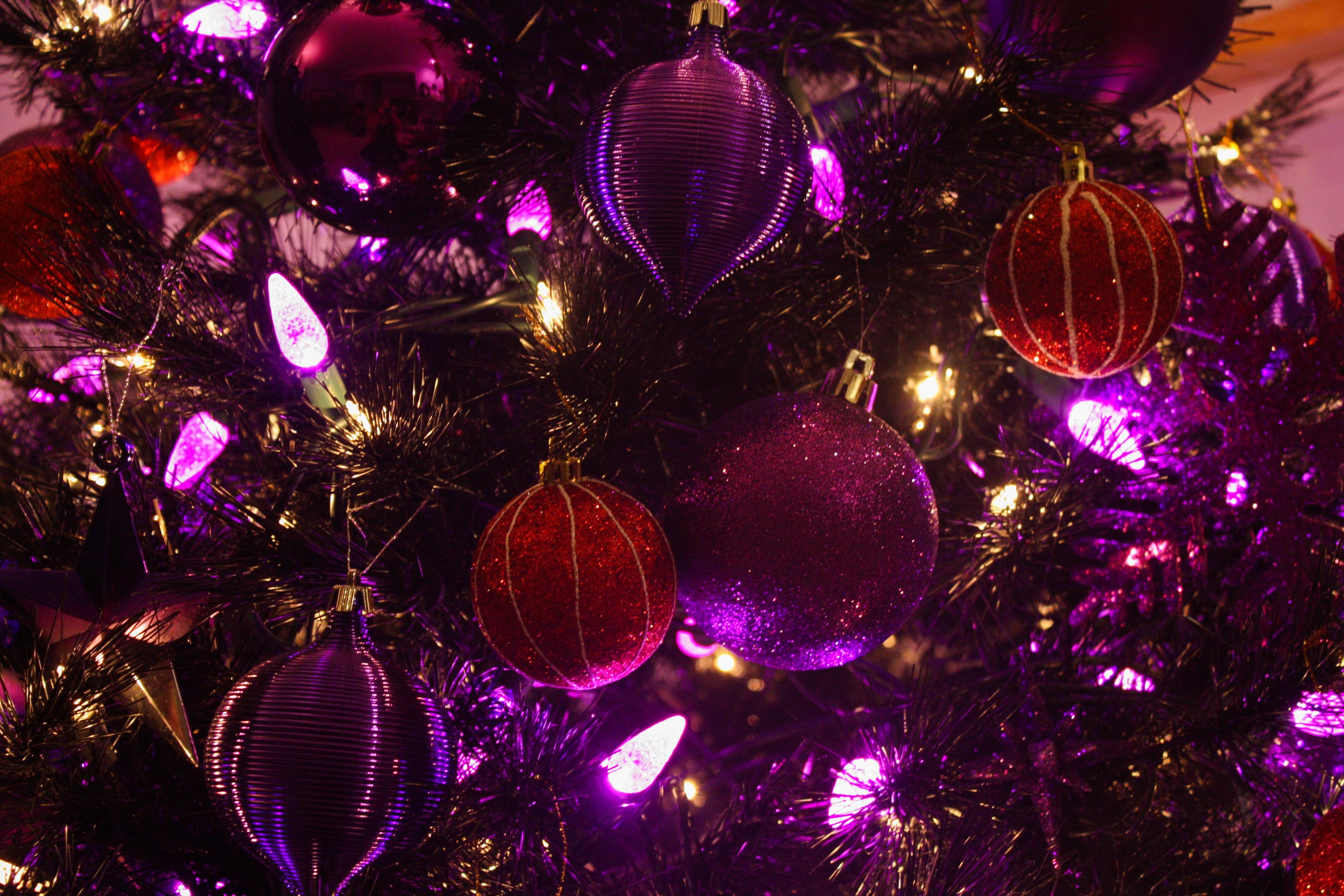 tree purple petal decoration red holiday christmas decor christmas tree circle festive christmas decoration lights spirit - Purple Christmas Tree Lights