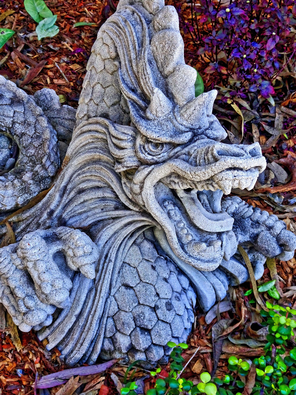 Gambar Pohon Daun Patung Dekorasi Cina Simbol Musim