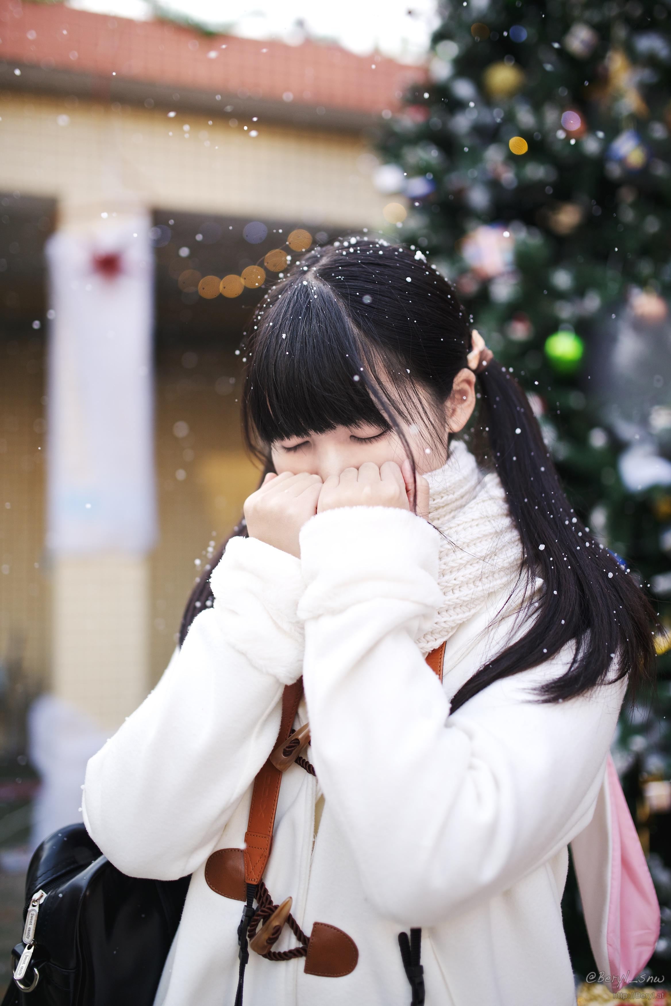 Kostenlose foto : Baum, Schnee, Winter, Mädchen, Frau, Weiß ...