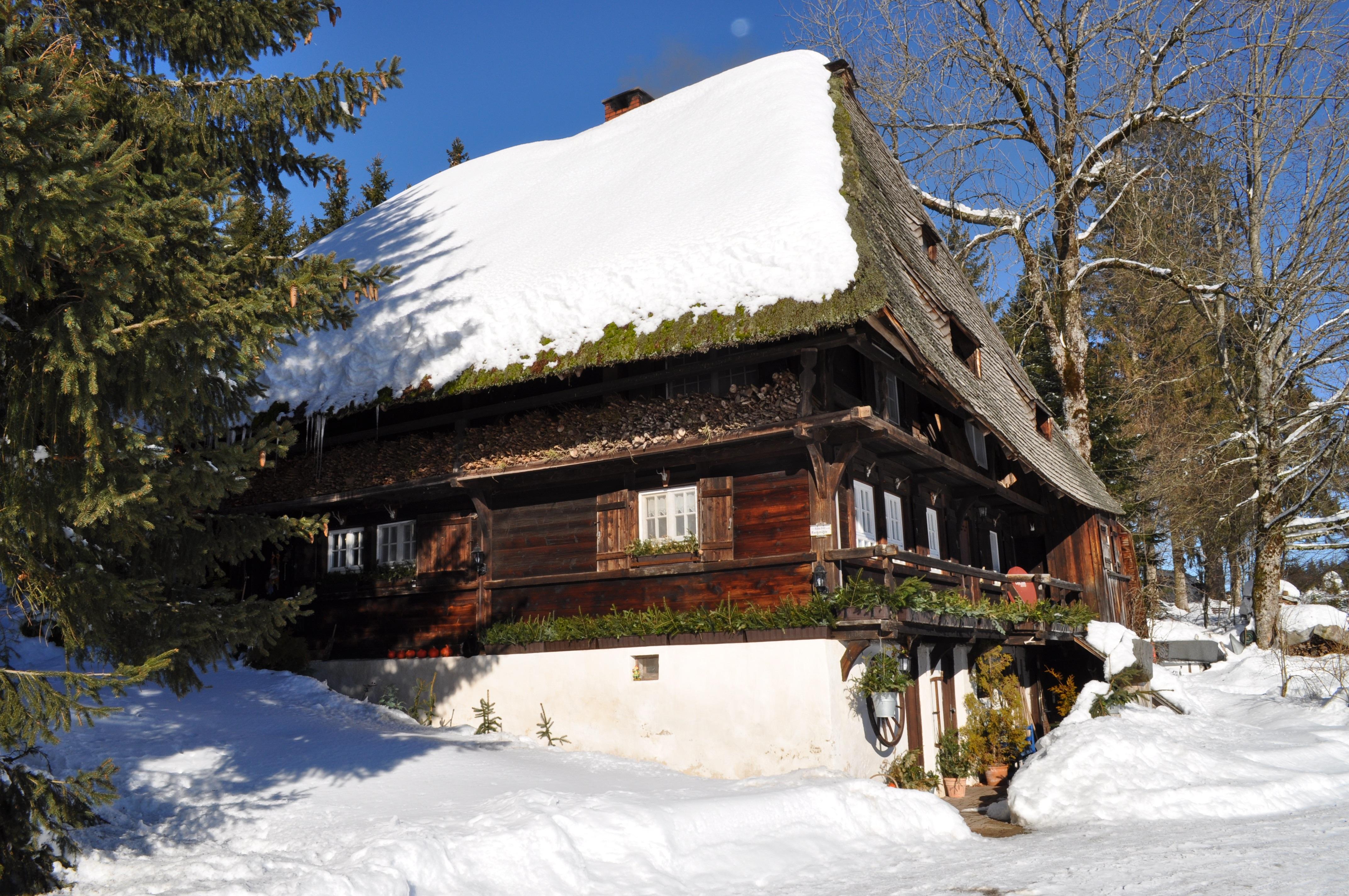 Fotos gratis rbol nieve invierno casa cordillera - Cabanas de madera en la nieve ...