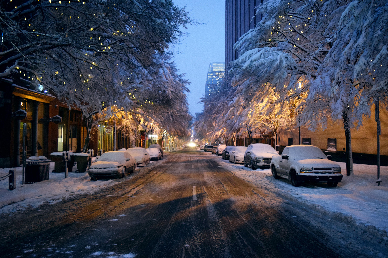 Все картинки зимы в городе свое