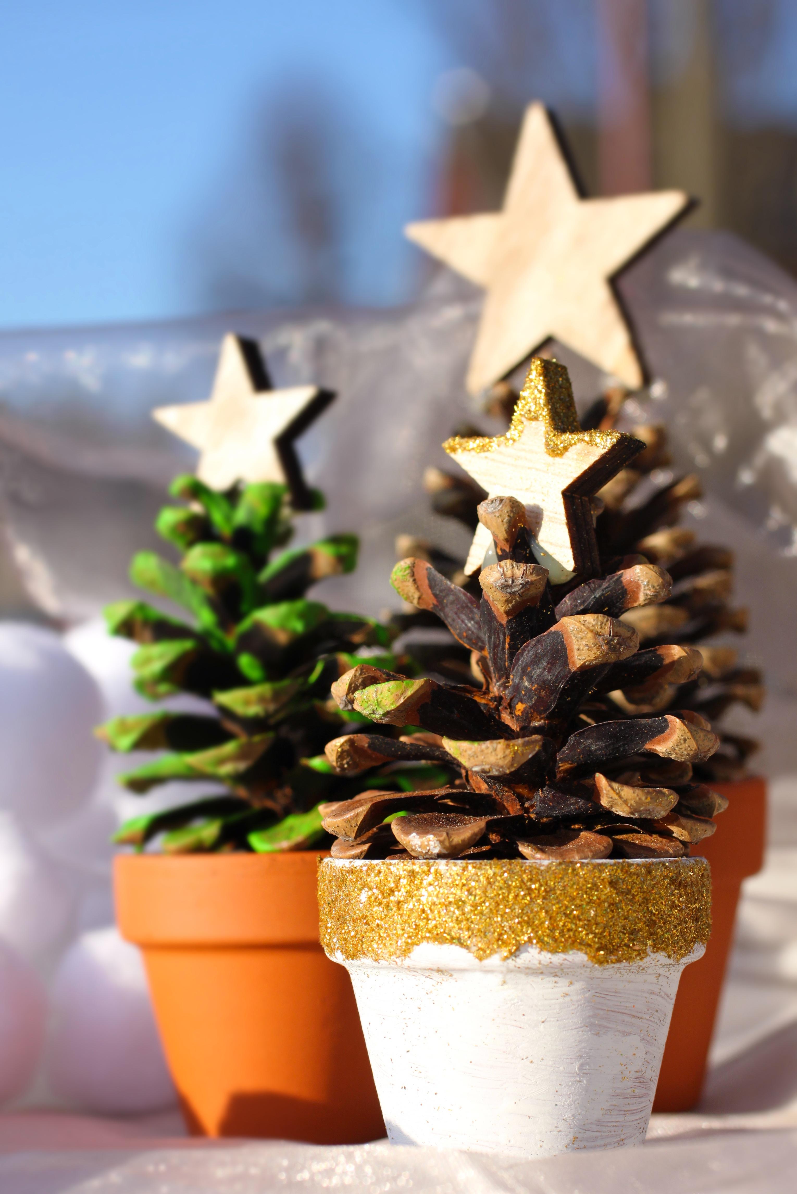 hiver plante toile feuille fleur pot clairage arbre de nol briller dco avnement dcoration de nol priode de nol pot en terre cuite - Decoration De Pot En Terre Cuite