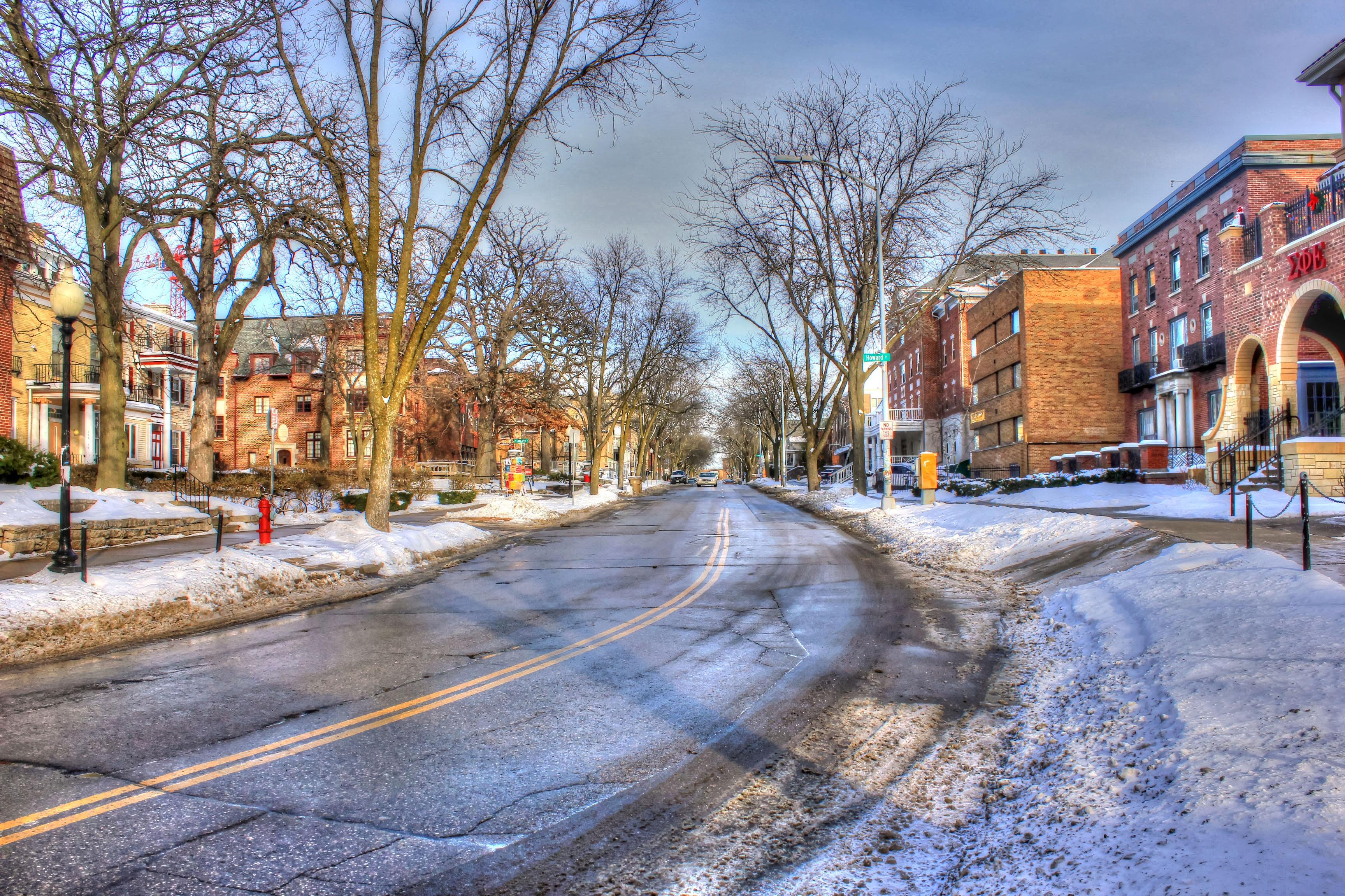 winter city lane with - photo #24
