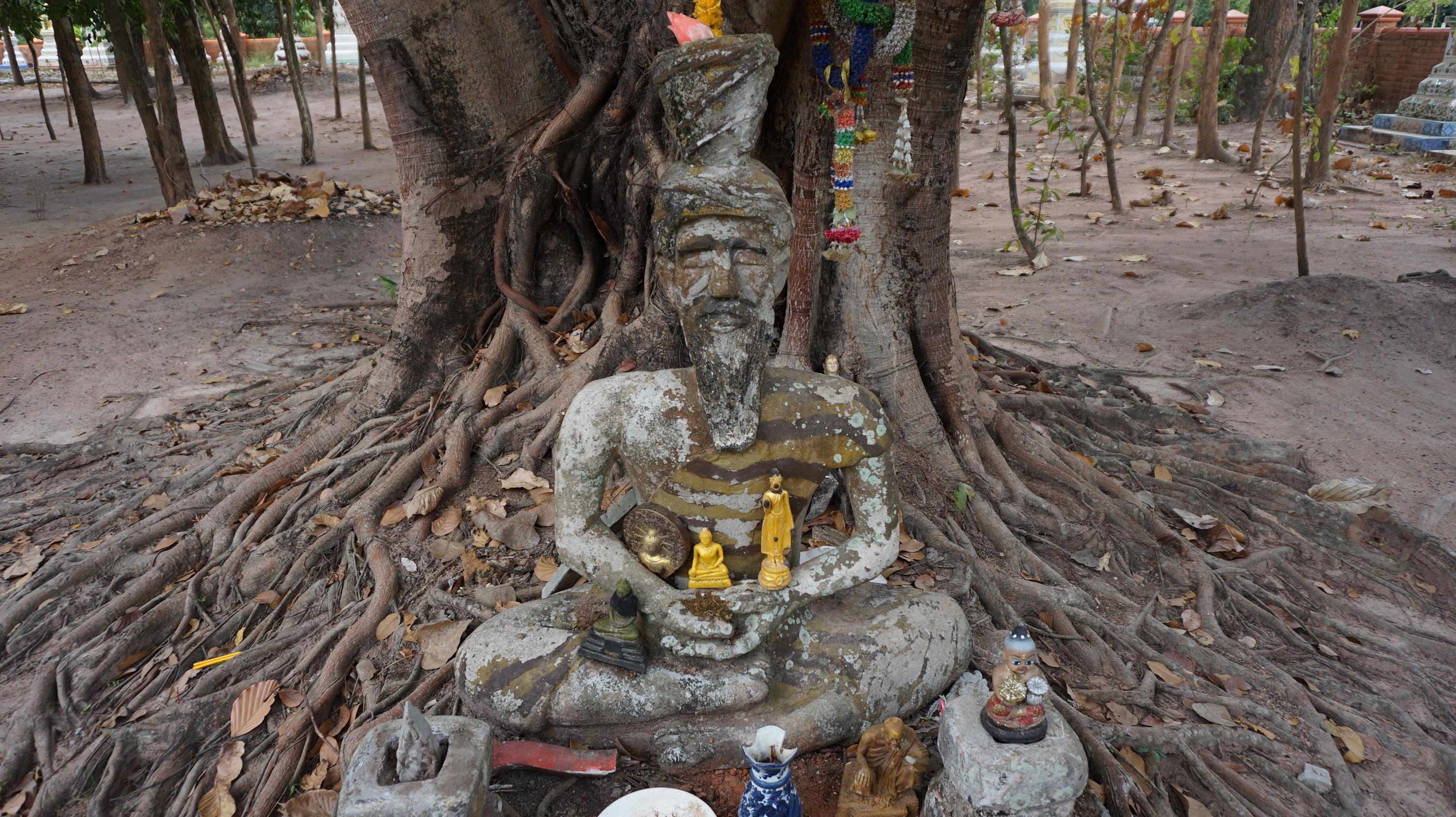 Fotoğraf Ağaç Gövde Heykel çamur Din ölçmek Tayland Heykel