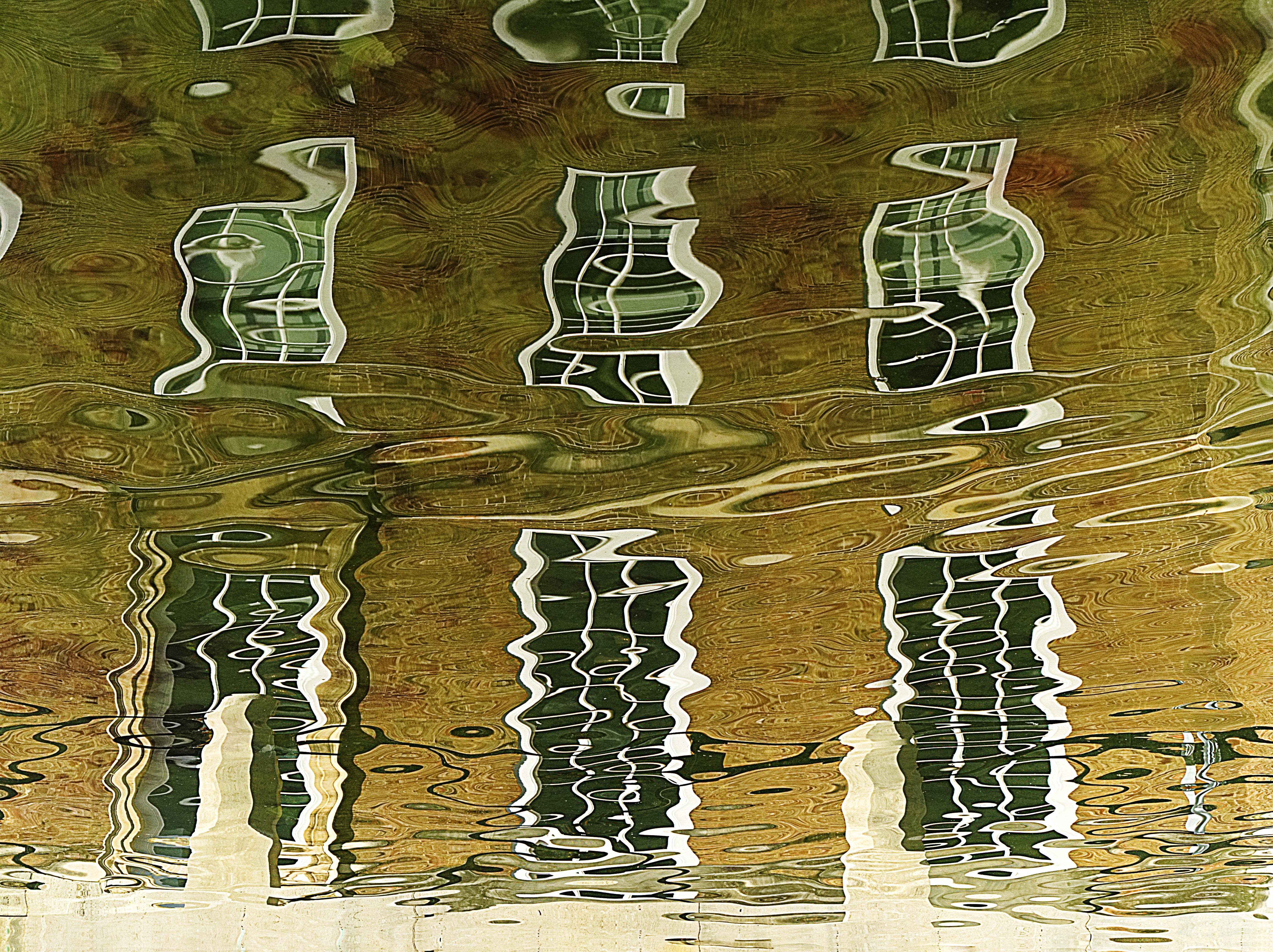 Gambar Pohon Air Cair Abstrak Arsitektur Jendela Danau