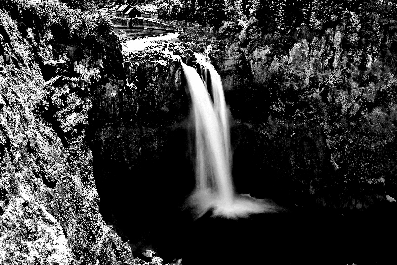 черно белые картинки водопад хотя все