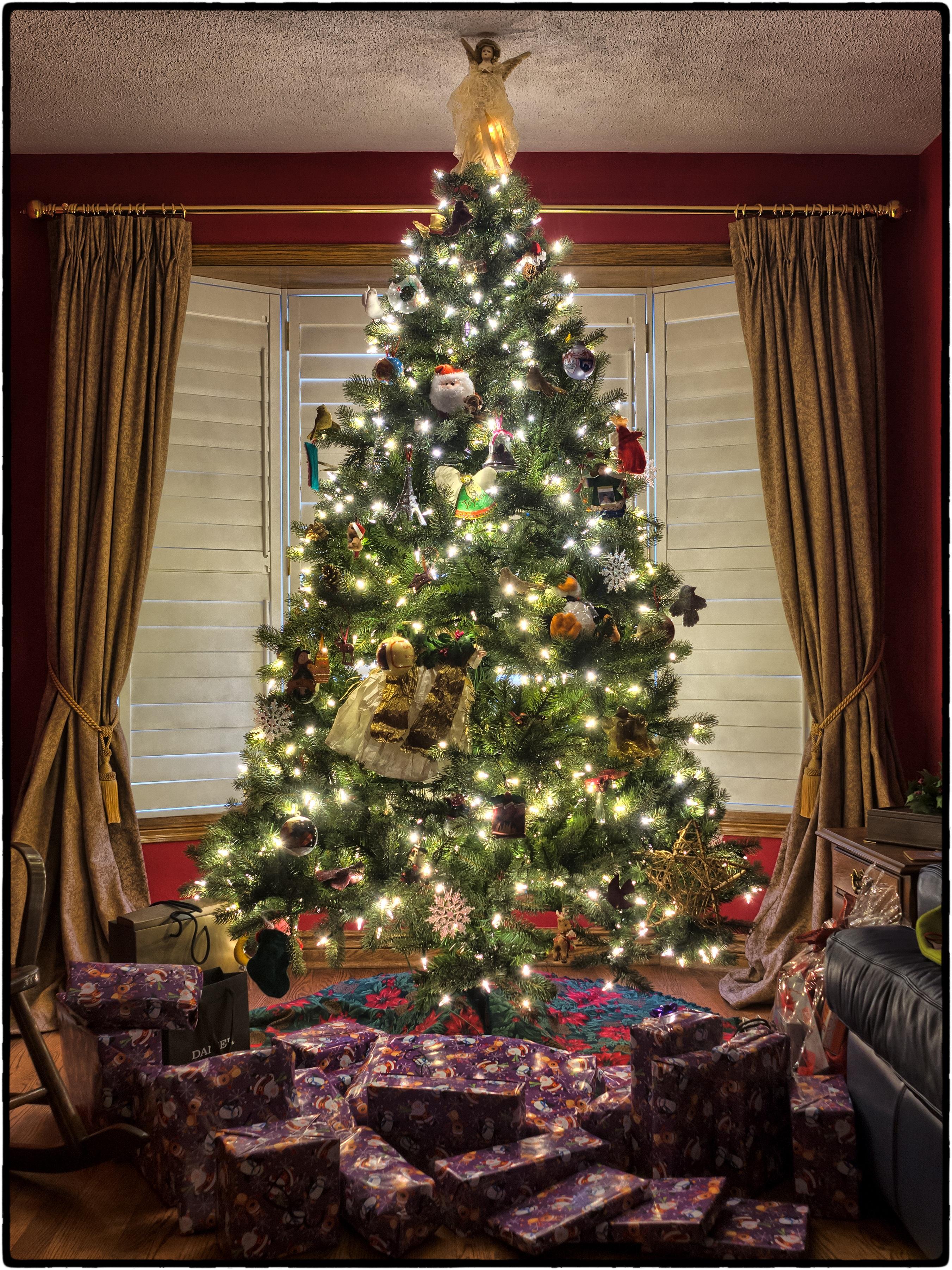 Bakgrundsbilder : träd, vinter-, gåva, dekoration ...