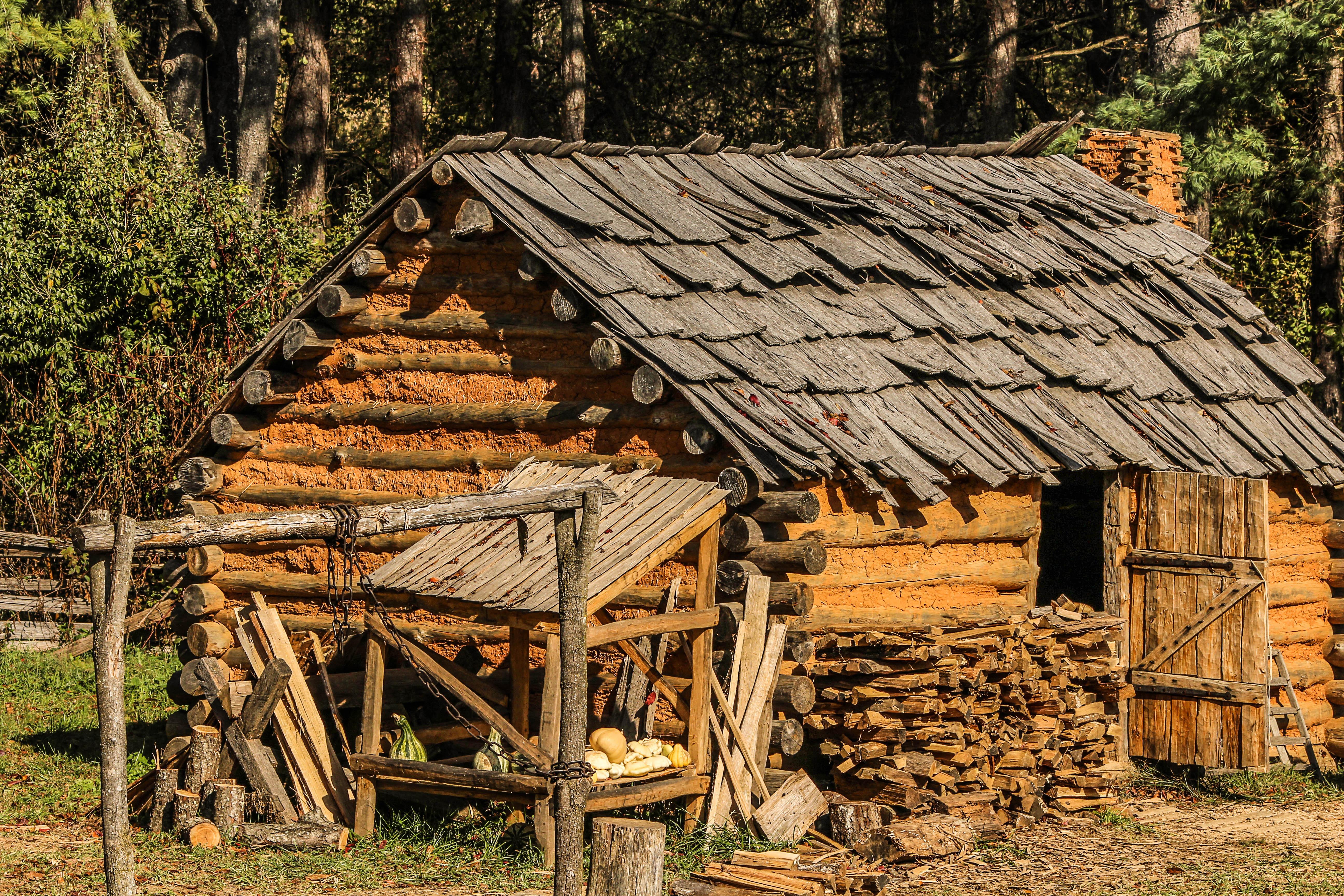 Fotos gratis rbol campo casa techo cobertizo - Cabanas de madera en arboles ...