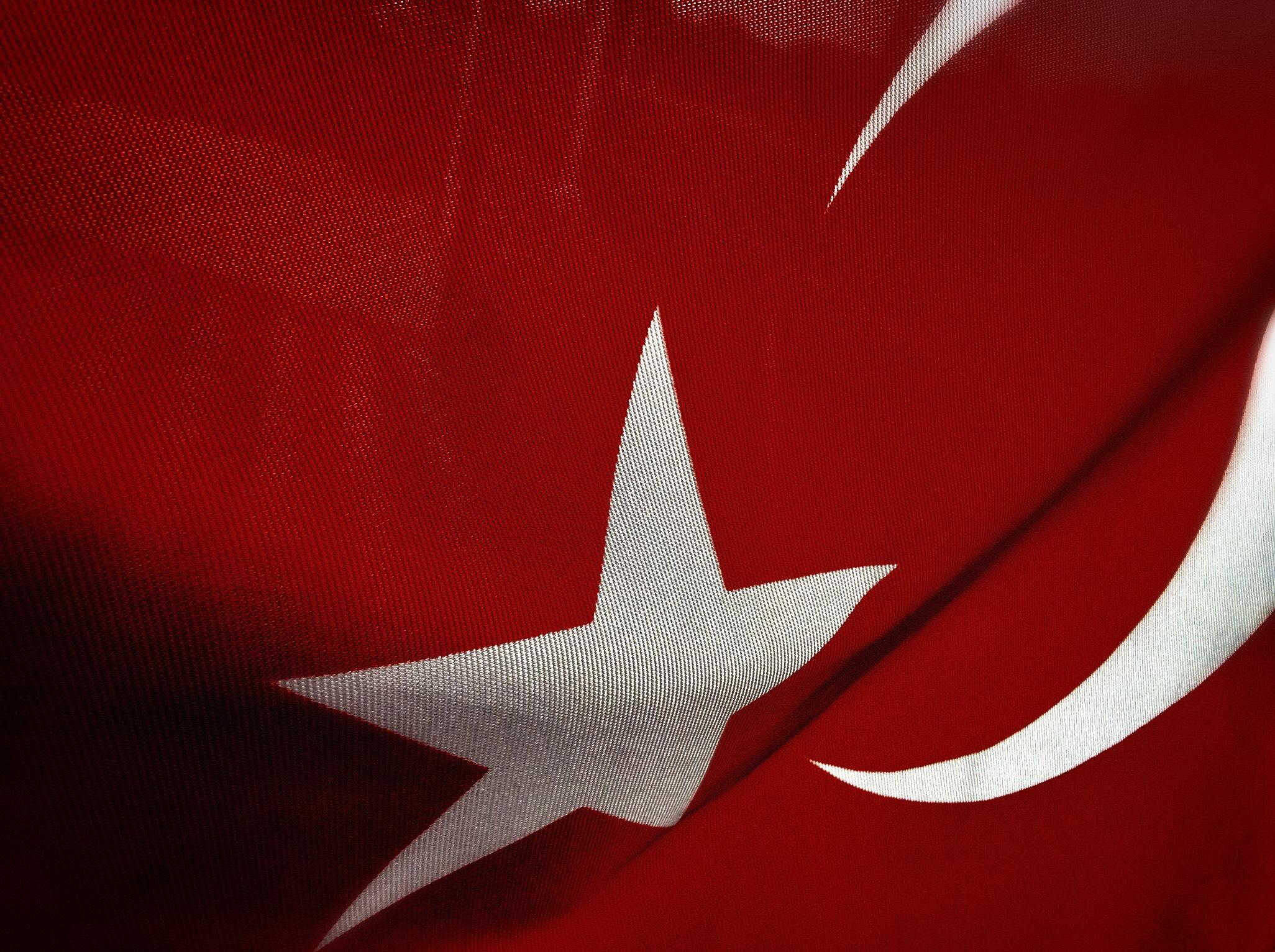 Immagini Belle Tacchino Bandiera Turca Struttura Bandiera Rossa