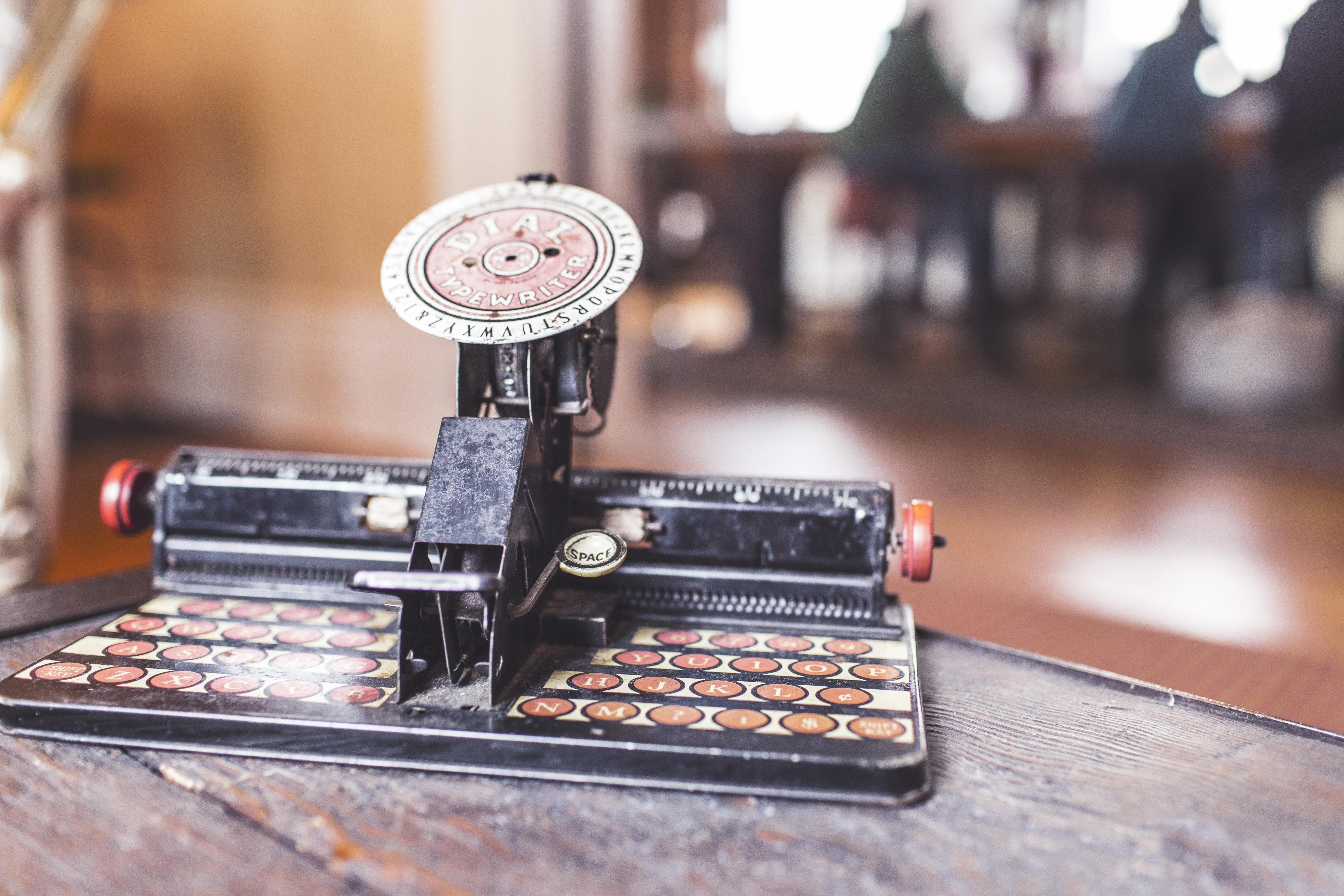 Kostenlose Foto Tippen Tastatur Jahrgang Retro Schreibmaschine