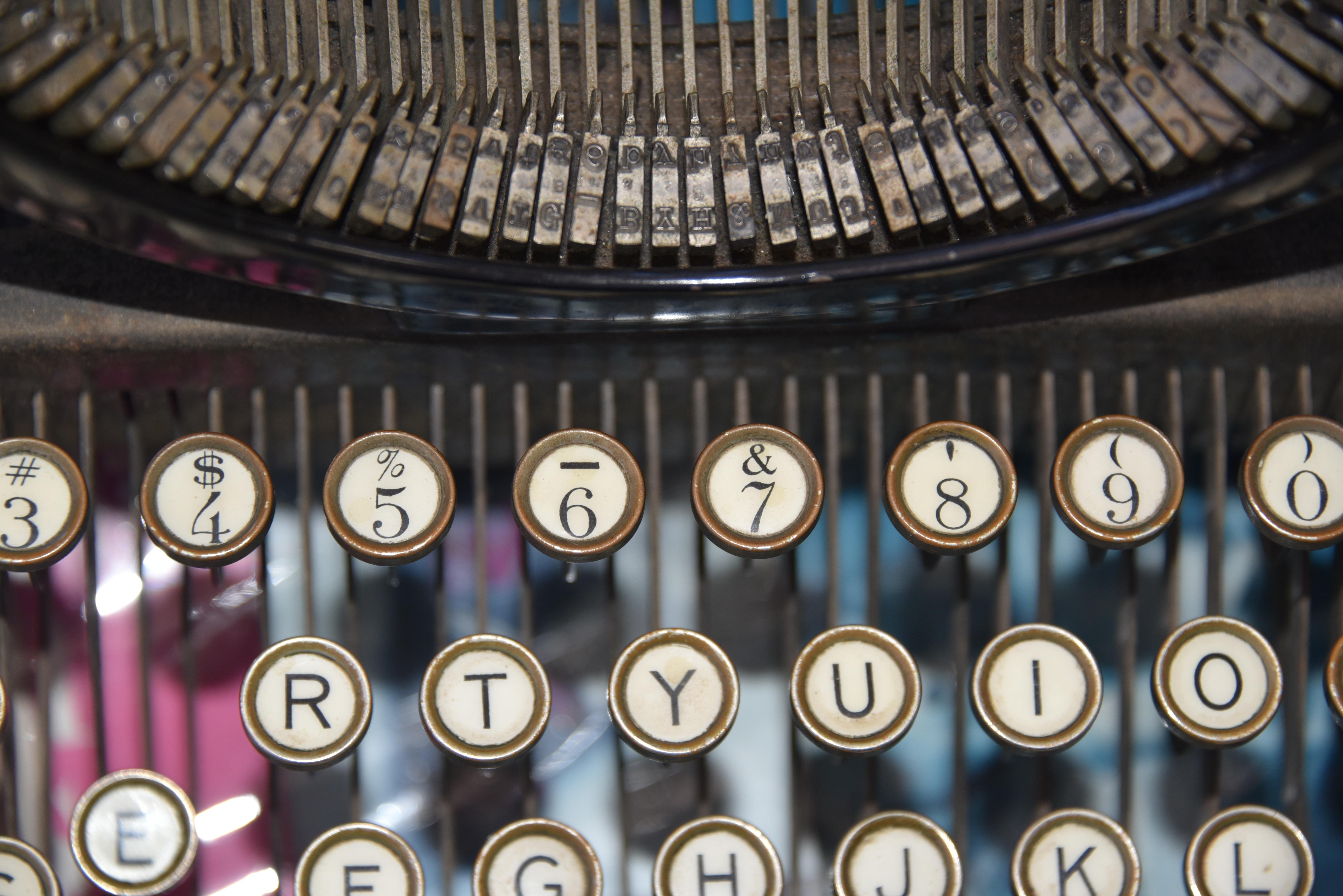 Typing Vintage Antique Typewriter Equipment Key Office Machine Business  Type Keys Office Equipment Qwert