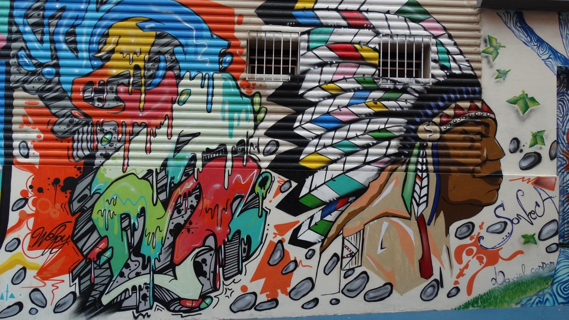 Urban graffiti painting street art art drawing mural graphite modern art