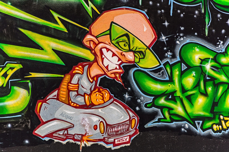 free images urban graffiti street art face illustration comic