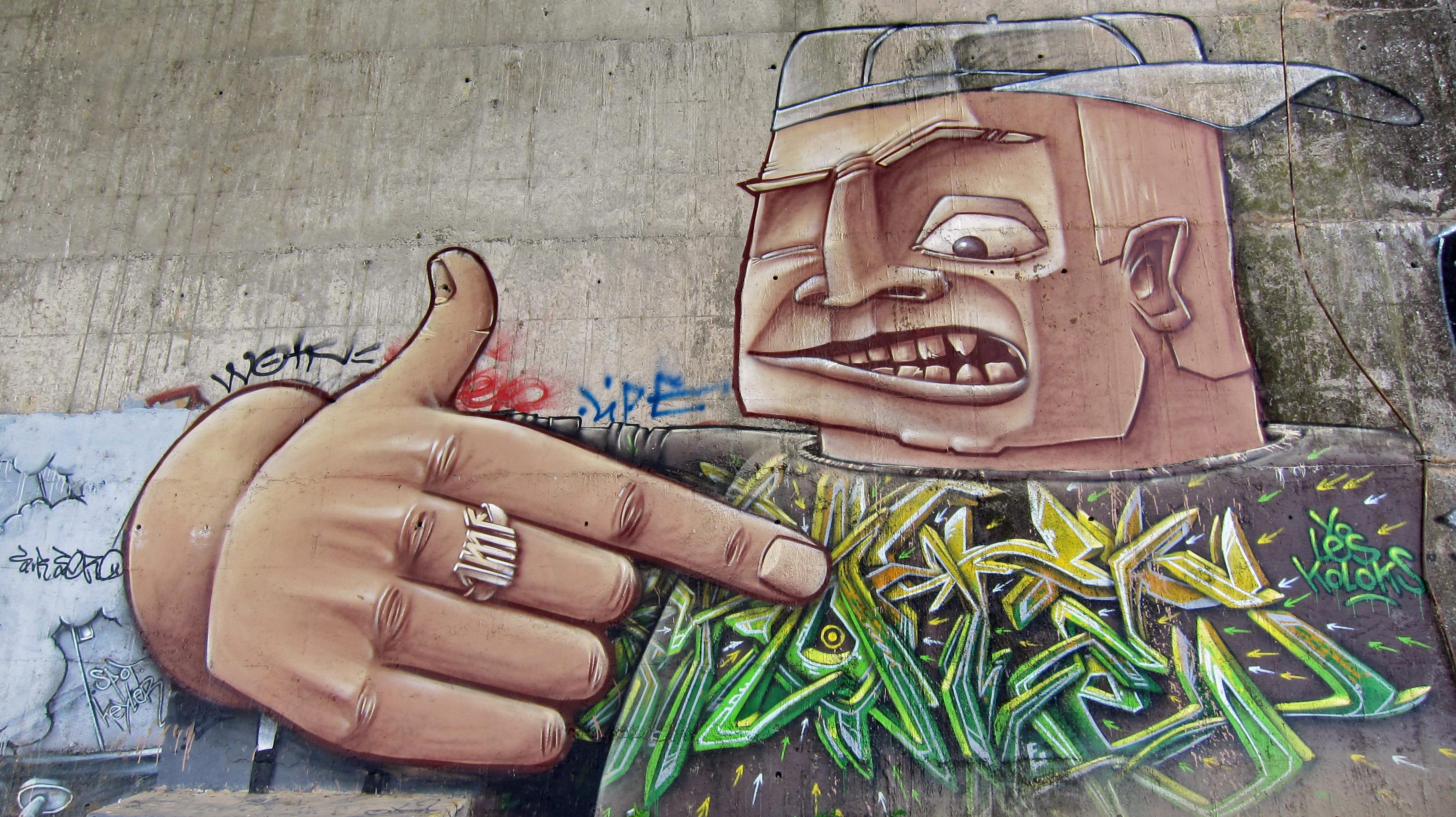 Gambar Perkotaan Dinding Perancis Artistik Coretan Lukisan