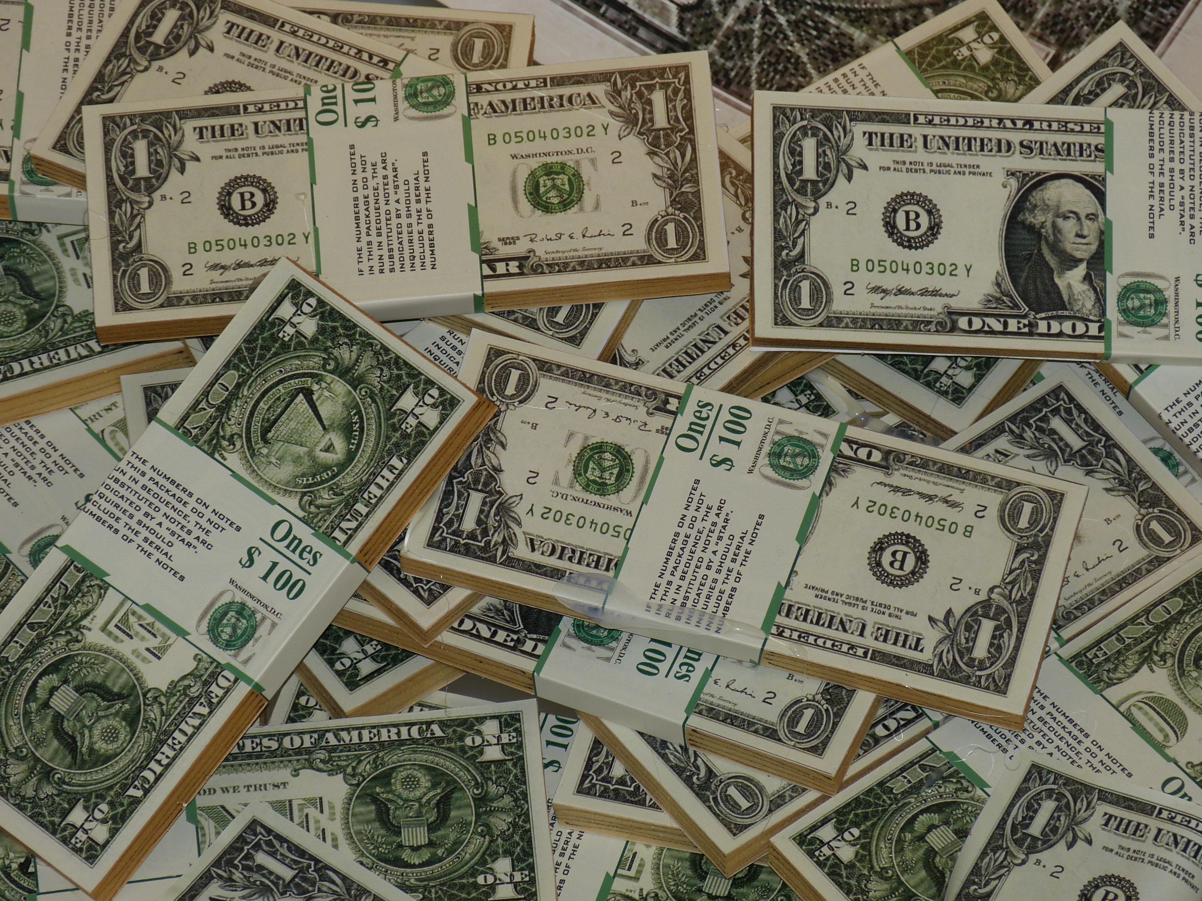 Usa Money Paper Cash Currency Dollar Seem Banknote Pay Bills Bill Forex Us