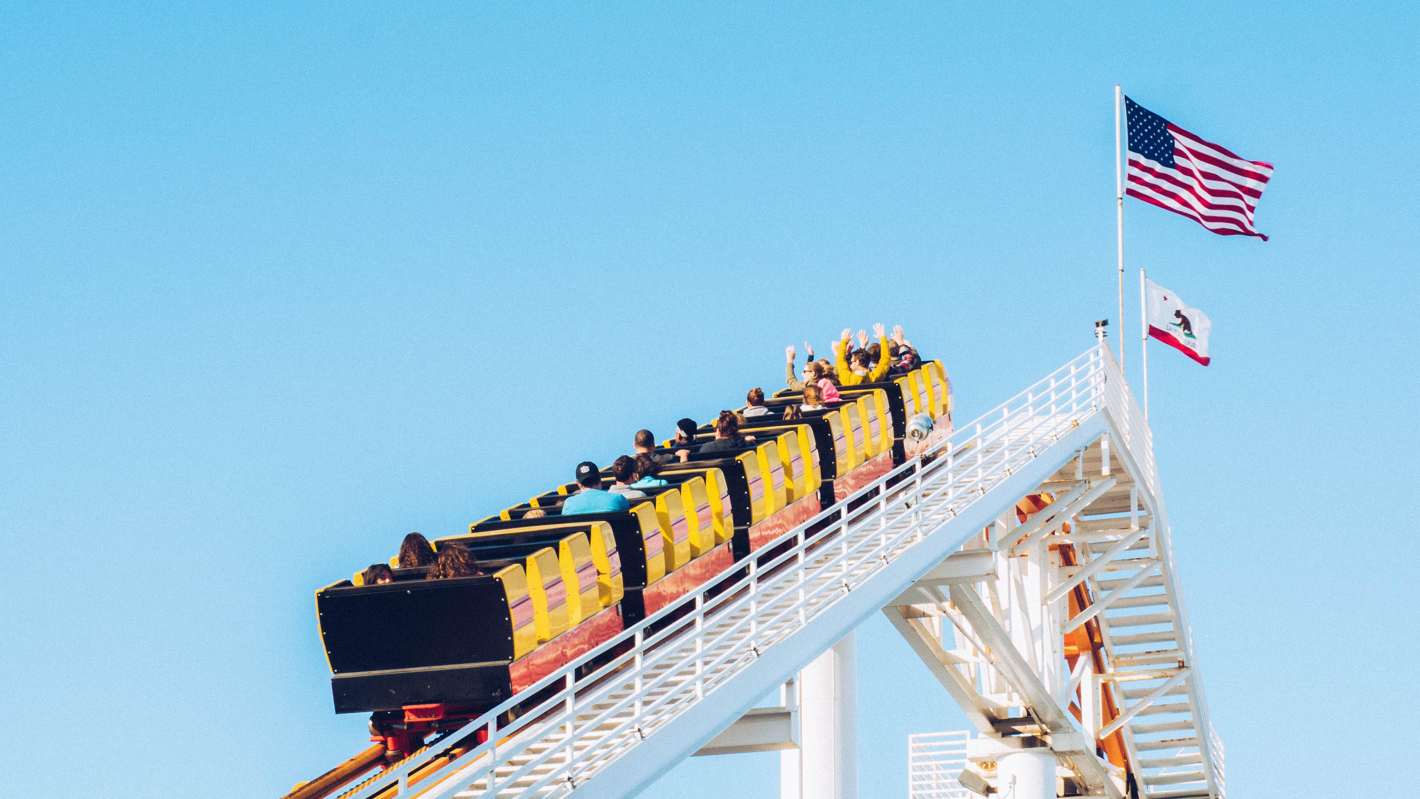 Free Images : vehicle, amusement park, roller coaster ...