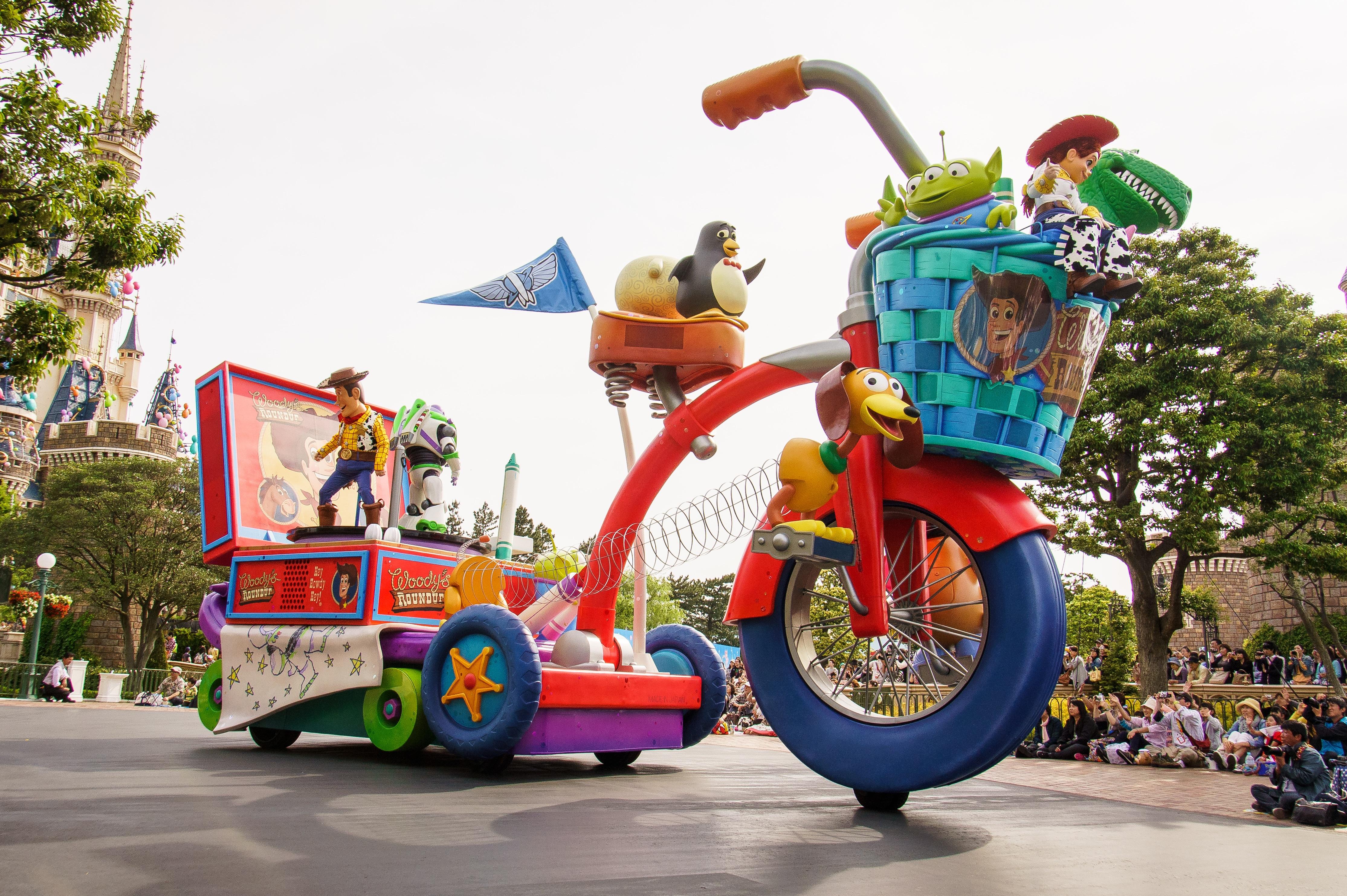 無料画像 : 車両, 日本, パレード, ディズニー, フェスティバル, 東京