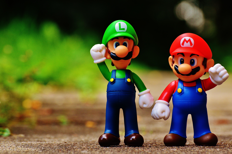 Gambar Video Game Bermain Retro Imut Anak Warna Warni Mainan