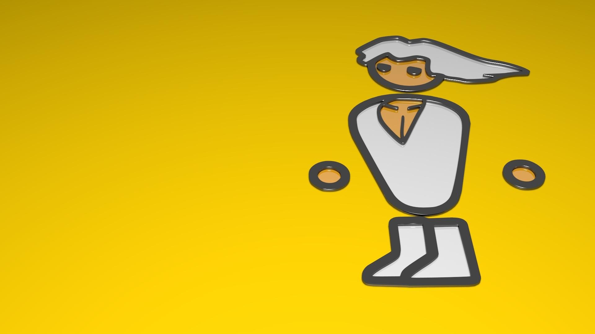 Gambar Video Game Kuning Fon Ilustrasi Logo Gambar Kartun