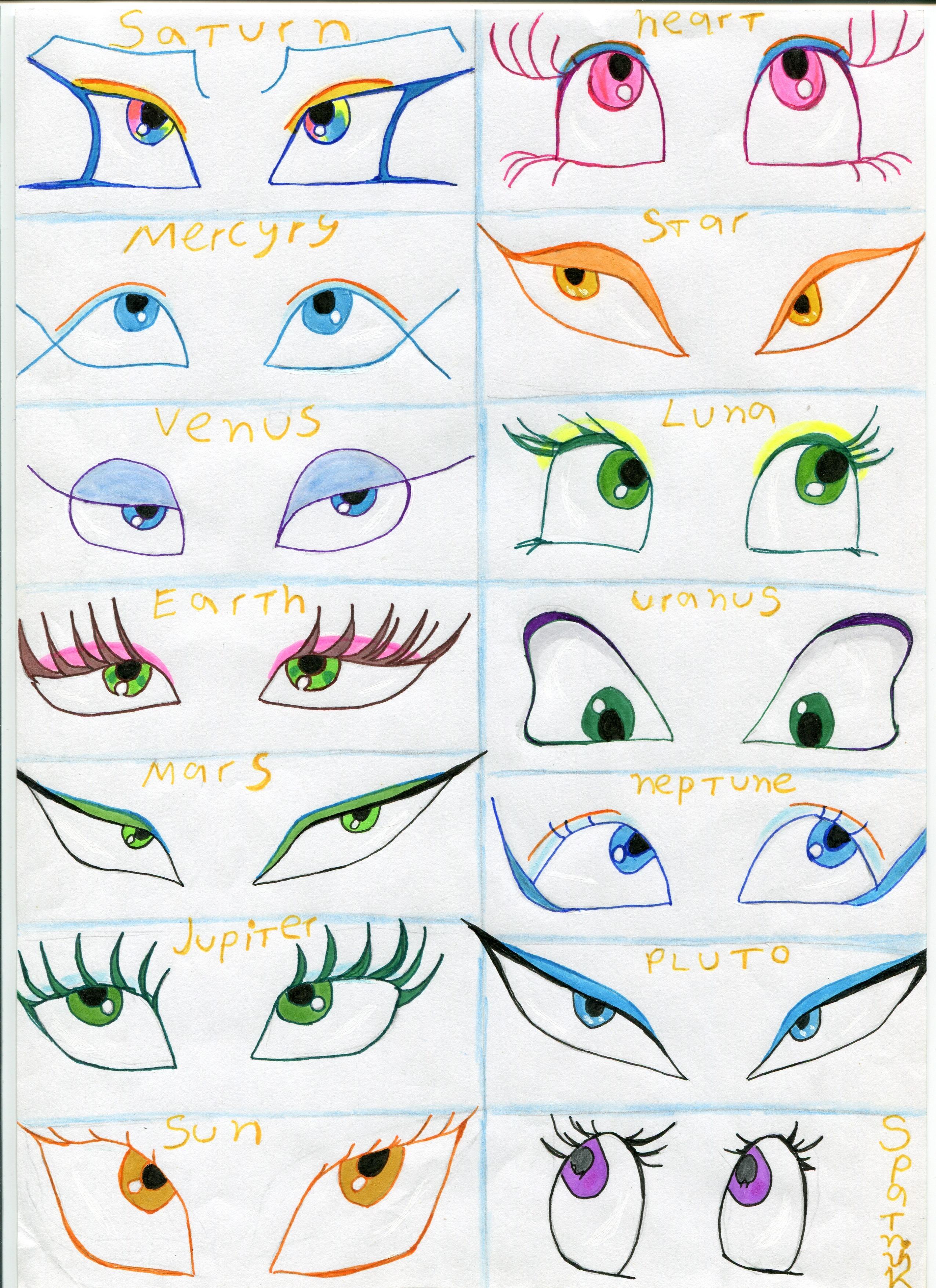 Gambar Melihat Melihat Garis Fon Hidung Mata Animasi