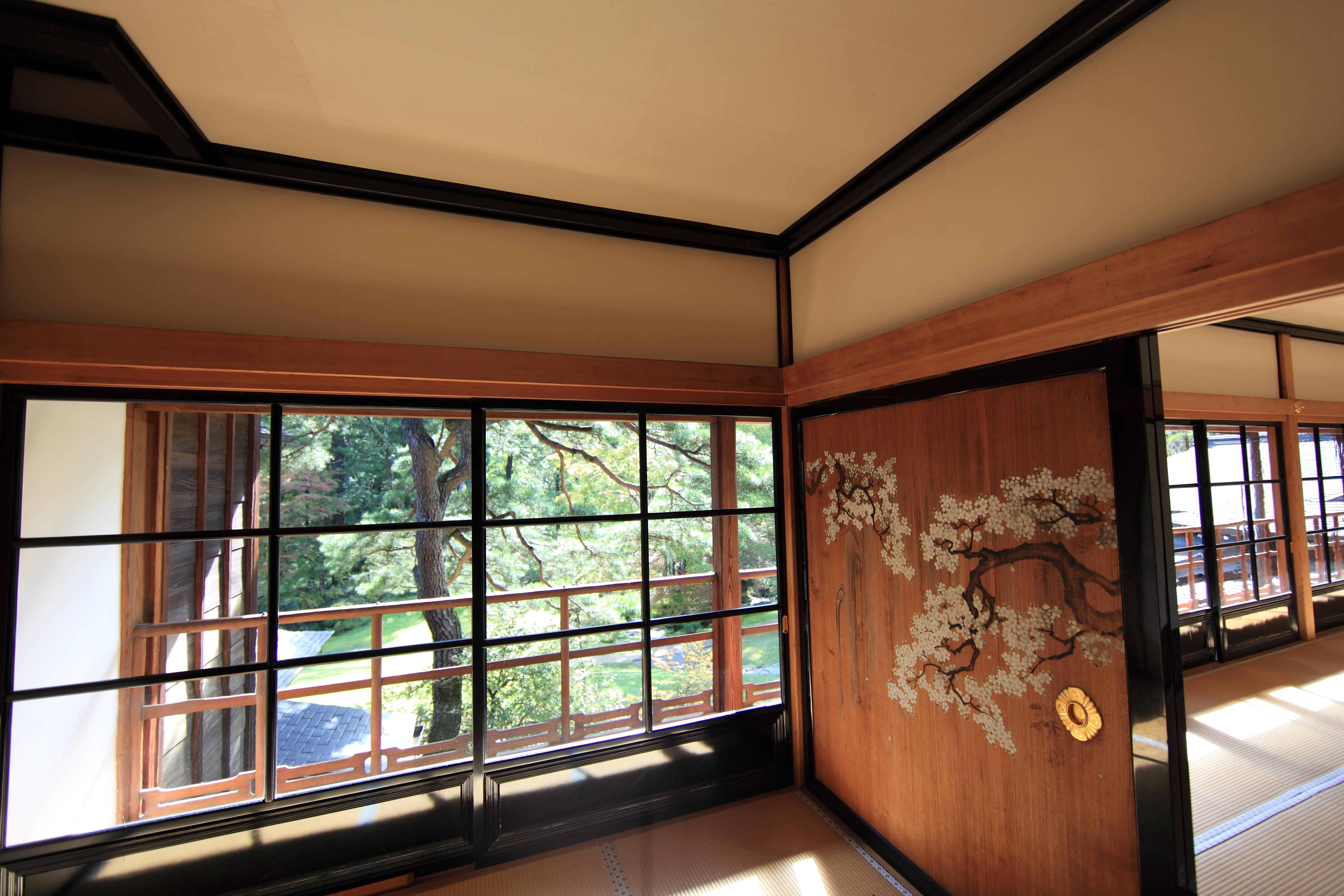 Gambar Vila Rumah Pedalaman Jendela Kaca Plafon Tinggi