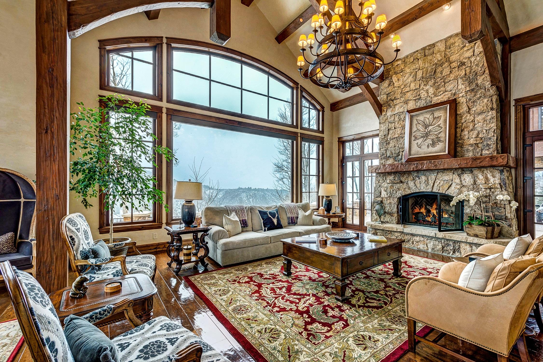 Villa Mansion Home Porch Cottage Fireplace Property Living Room Room  Interior Design Farmhouse Estate Real Estate