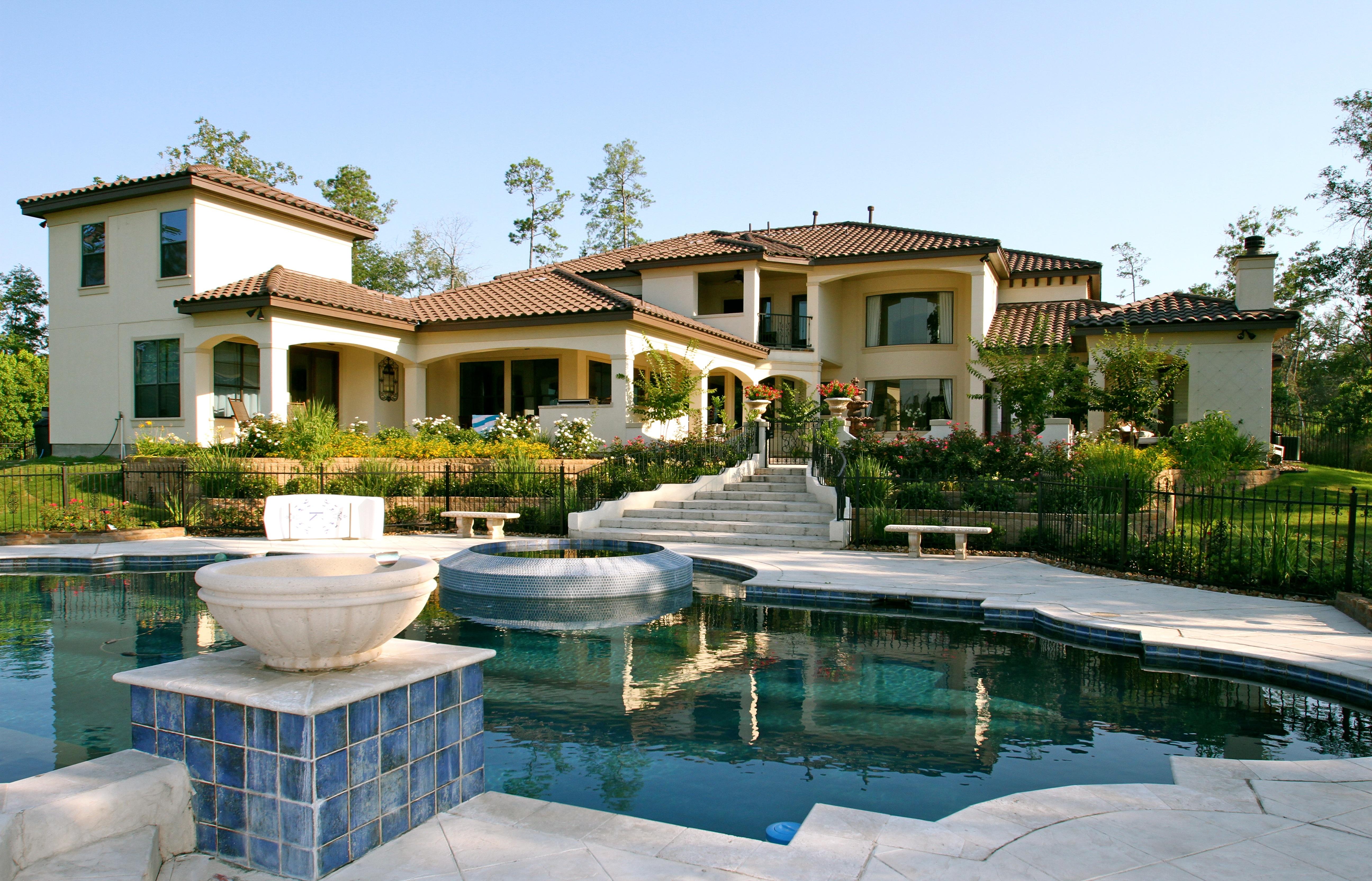 Kostenlose foto : Villa, Haus, Gebäude, Zuhause, Schwimmbad, Modell ...