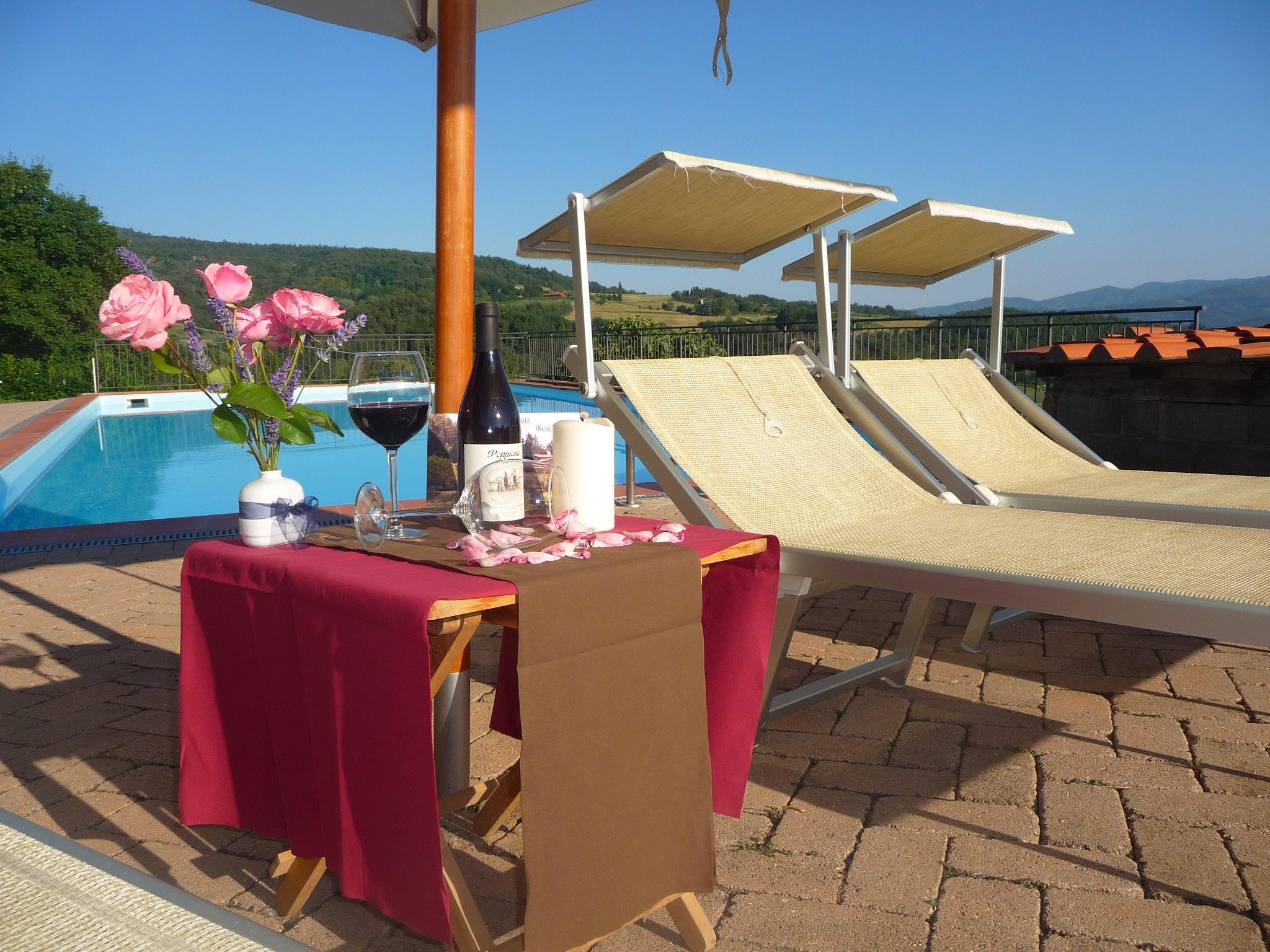 villa restaurante piscina toscana recurso inmuebles hamacas casas rurales vacaciones