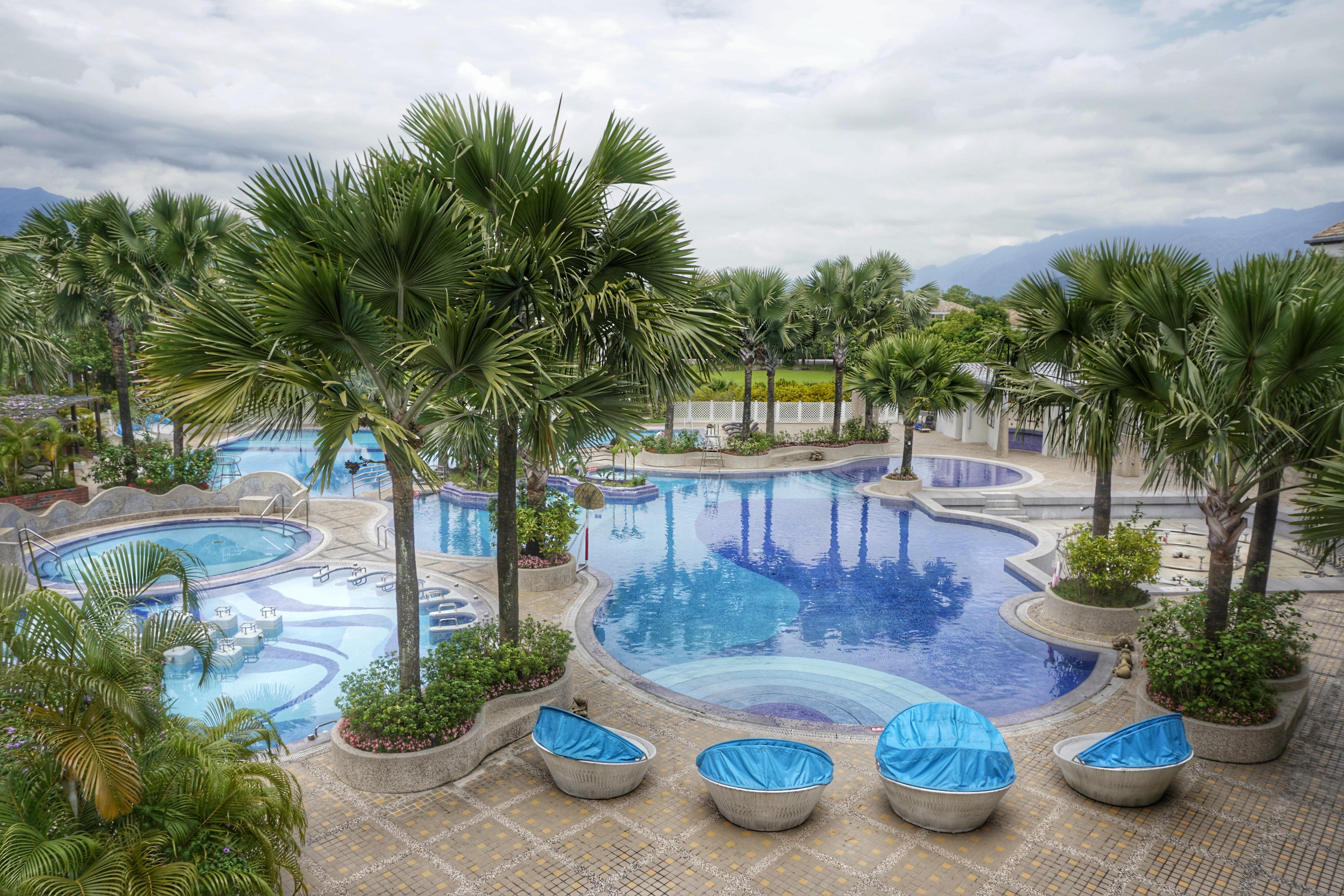 Free Images : villa, vacation, swimming pool, lagoon, property ...