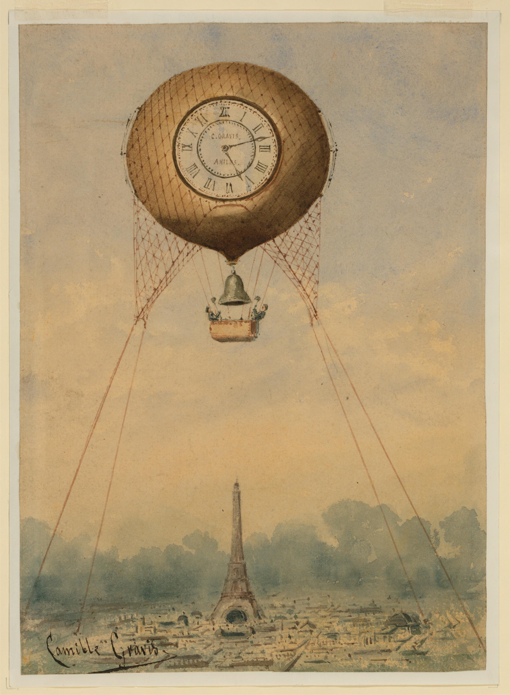 Free Images : vintage, hot air balloon, paris, aircraft, france ...