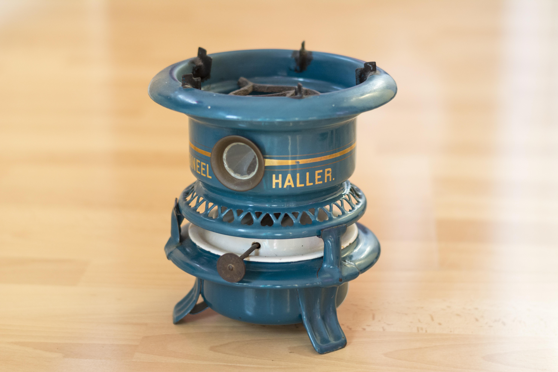 Vintage Retro Tua Memasak Keramik Dapur Percintaan Mesin Biru Produk Desain Klasik Bensin Minyak Tanah Rumah