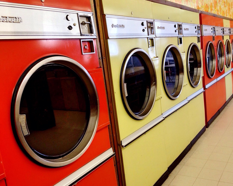 vintage retro transport vehicle washing machine public transport laundry laundromat dryer washer