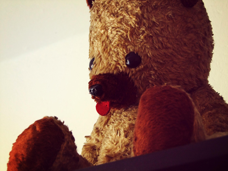 vuosikerta makea lapsi söpö karhu punainen ruskea lelu vauva nalle taide  hauska nalle pehmolelu 968129f94a