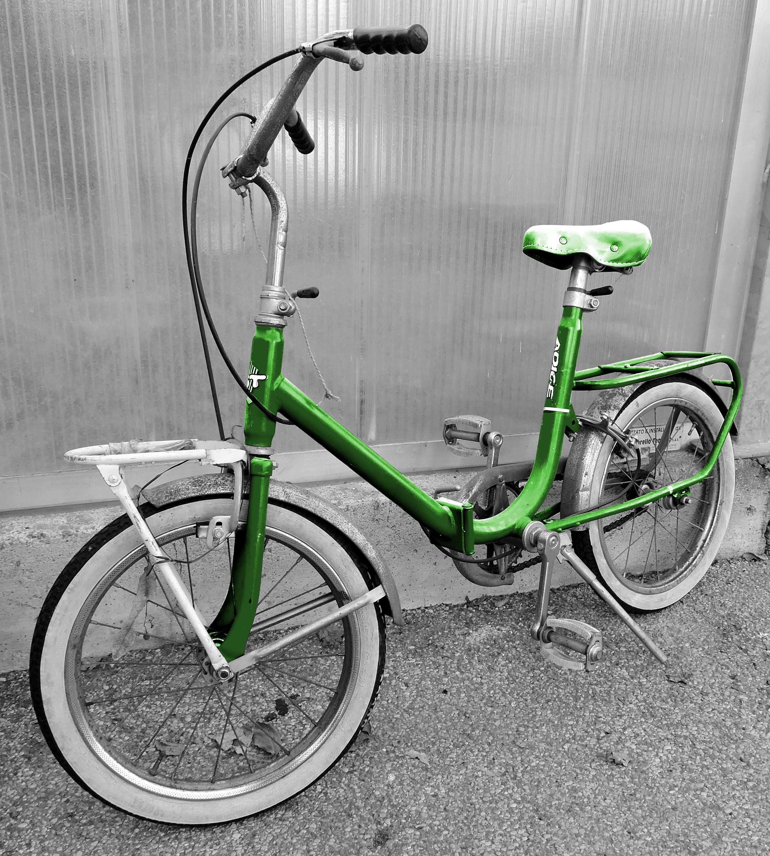 guidon bmx vert