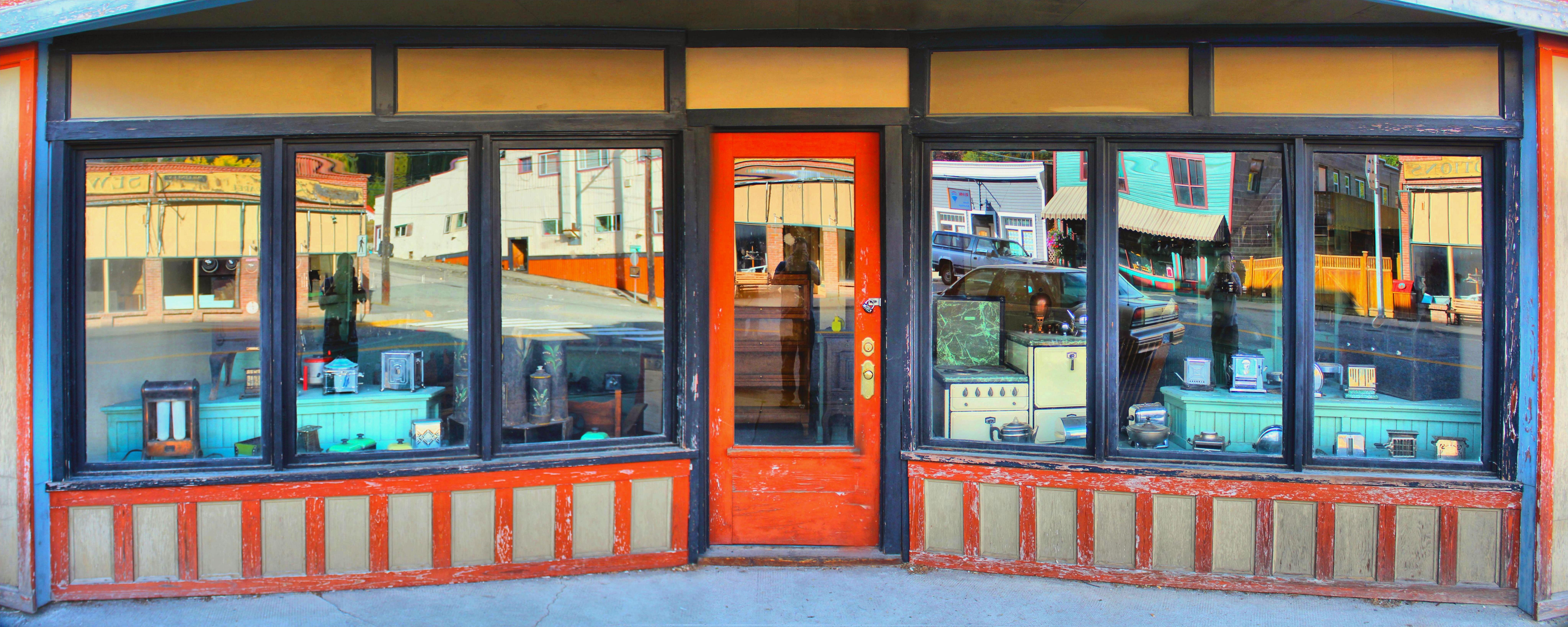 vintage window old panorama panoramic facade door interior design canada storefront britishcolumbia bc kootenays greenwood & Free Images : vintage window old panorama panoramic facade ...