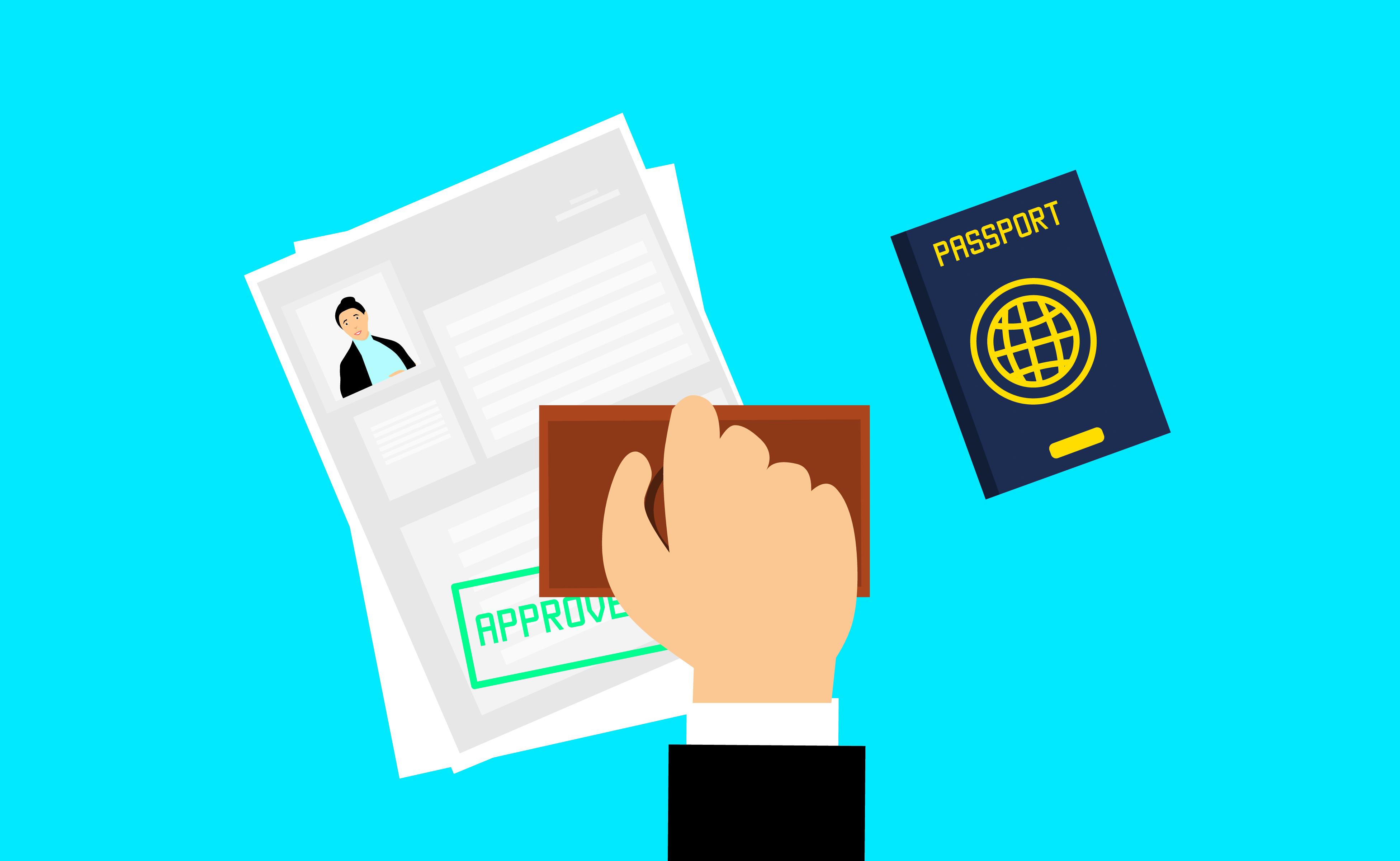 Gambar Visa Disetujui Perjalanan Template Layanan