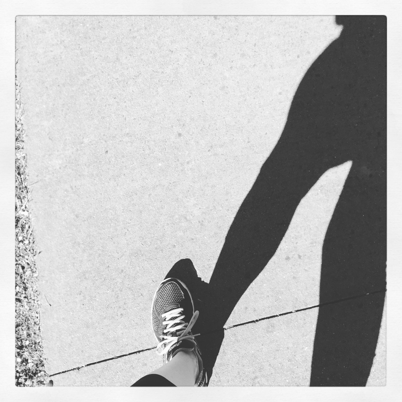 Gambar Berjalan Sayap Hitam Dan Putih Pola Bayangan Joging