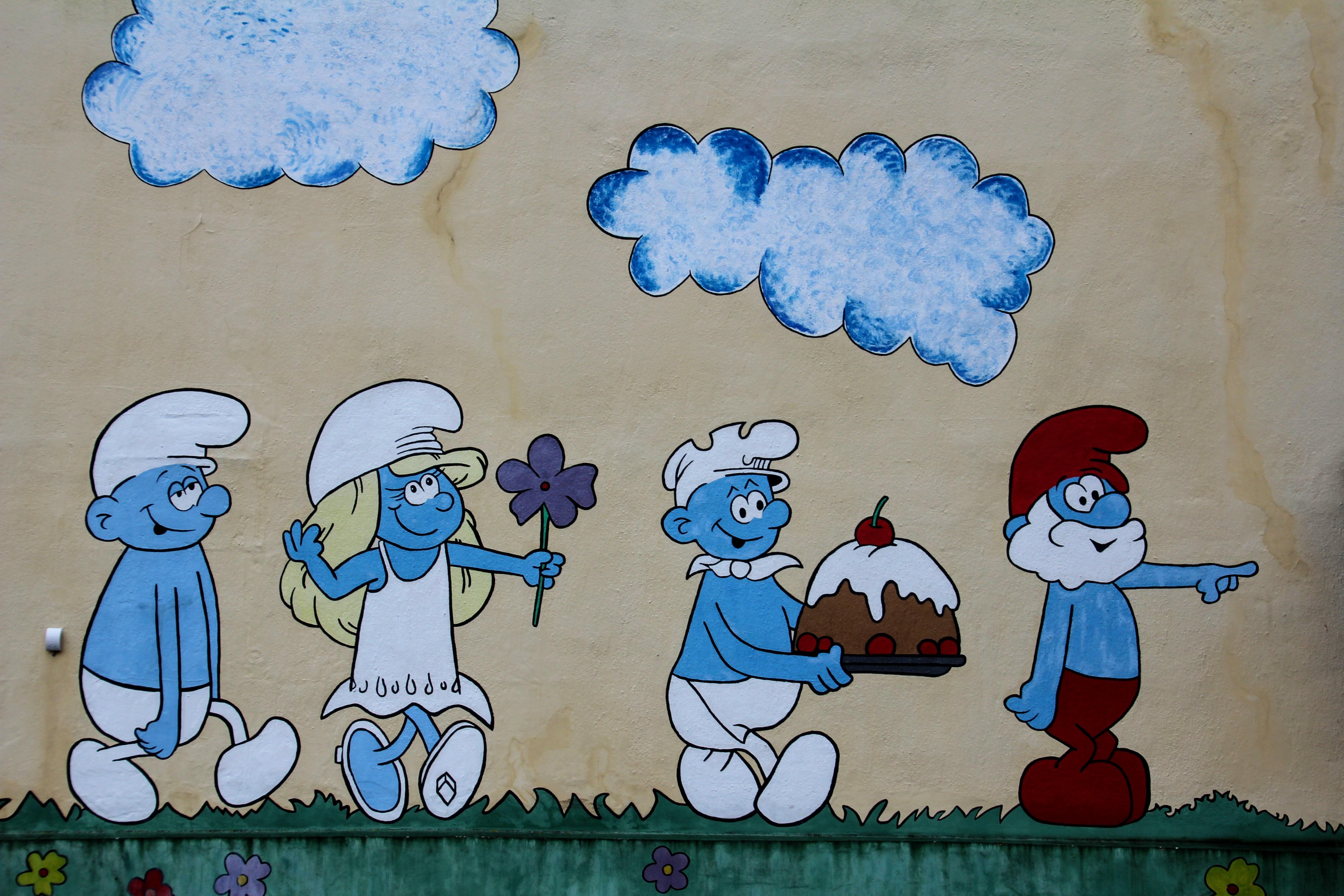 Images gratuites mur bleu la peinture art de rue for Dessin mural peinture