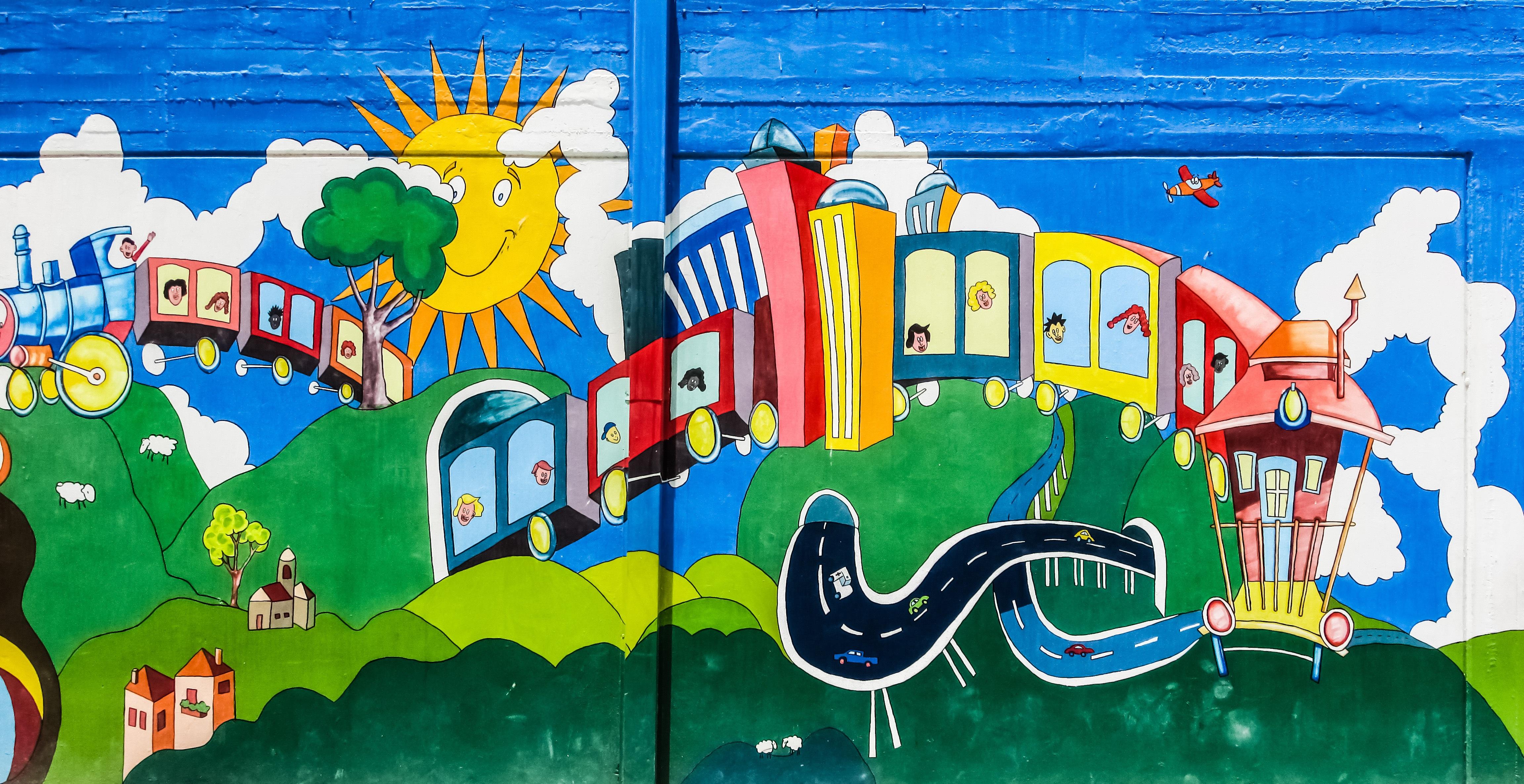 Gratis afbeeldingen muur kleurrijk graffiti kunst for Contoh lukisan mural tadika