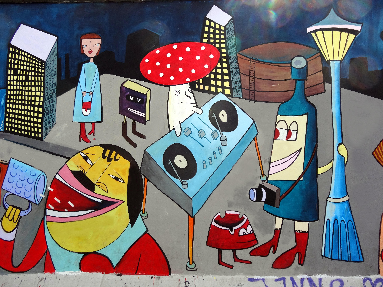 Gambar Coretan Deejay Seni Festival Ilustrasi Lukisan Dinding