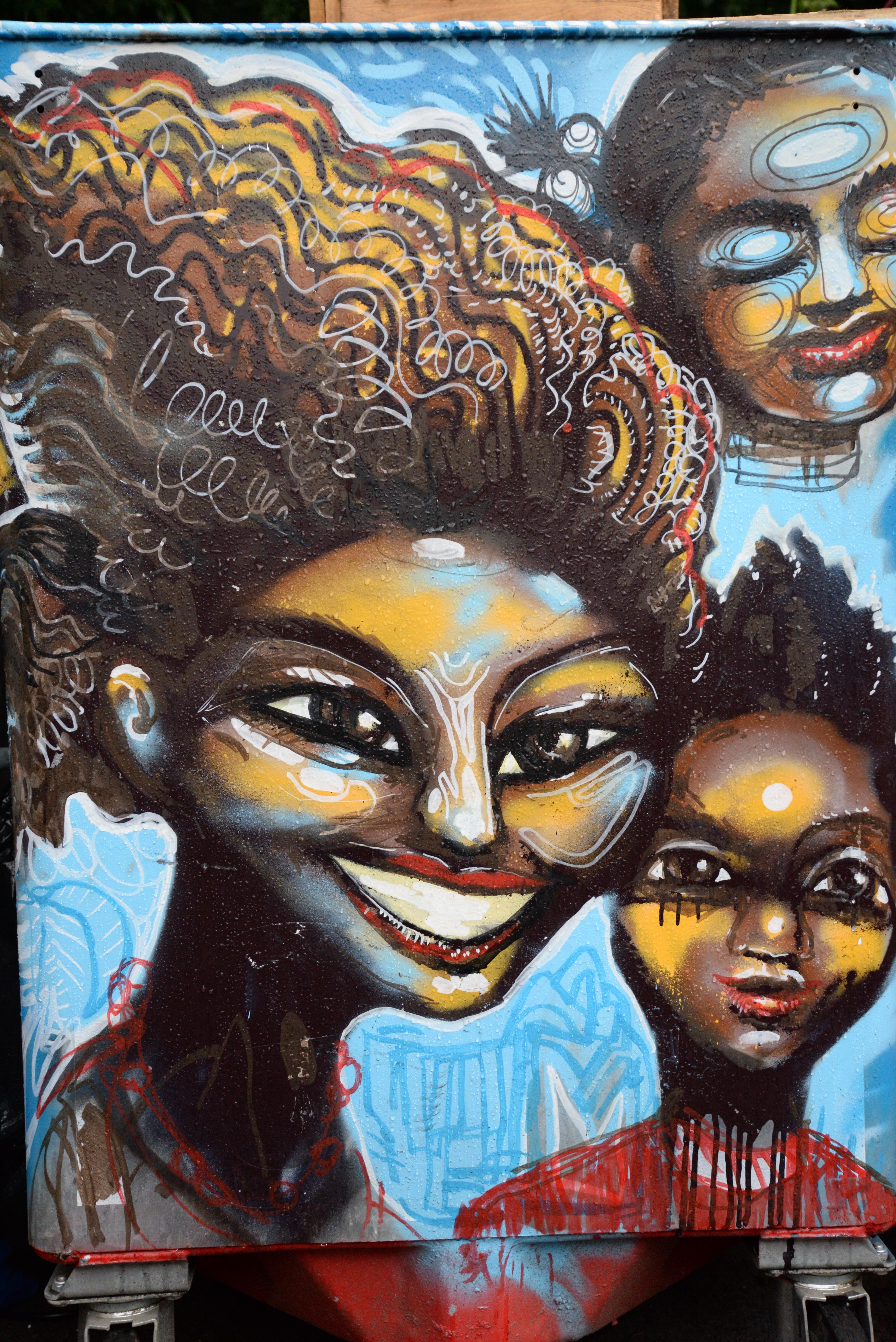 Fotoğraf Boyama Ağız Sokak Sanatı Sanat Renkler Illüstrasyon