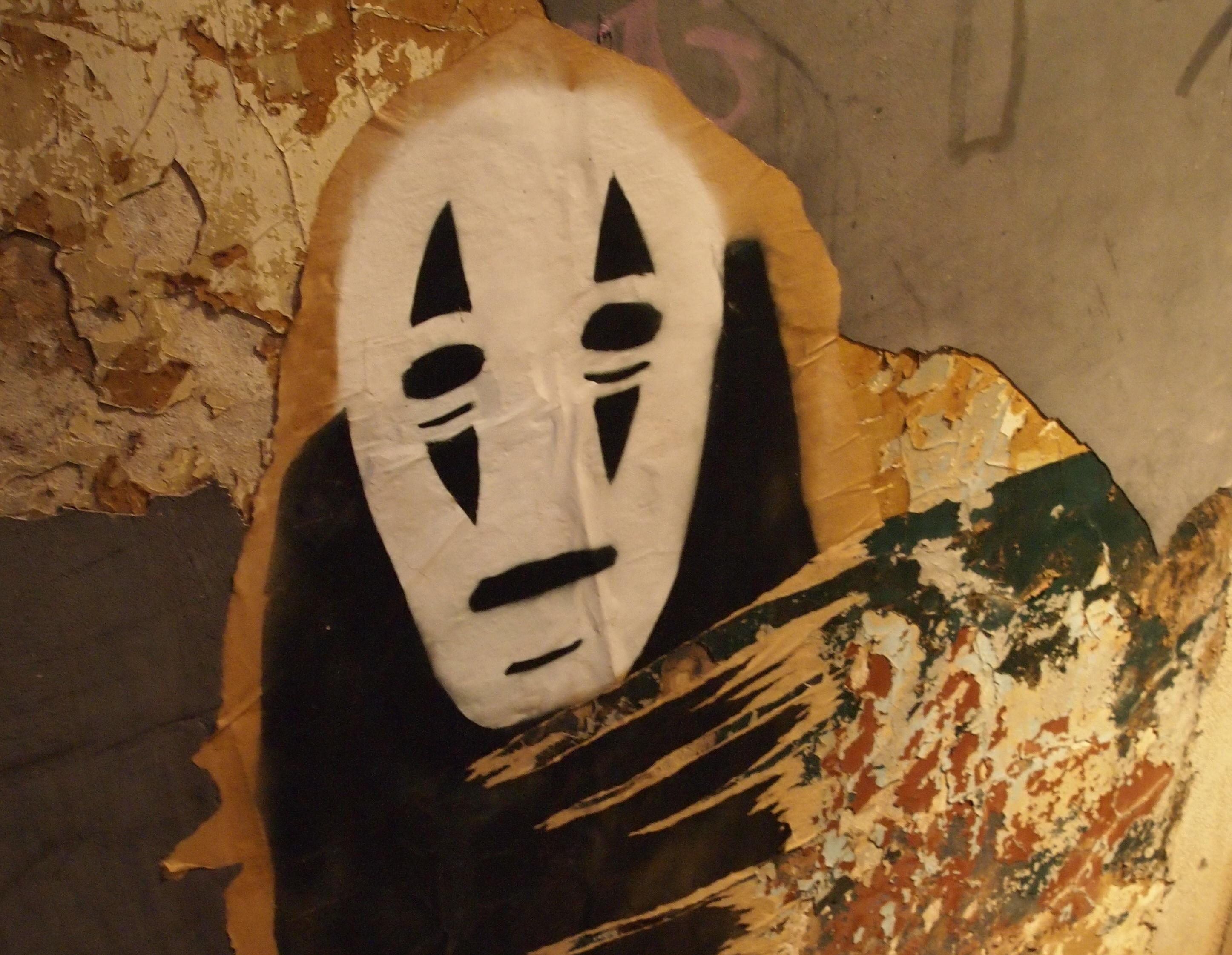 Gambar Dinding Lukisan Seni Urban Jepang Hantu Ukiran Gambar
