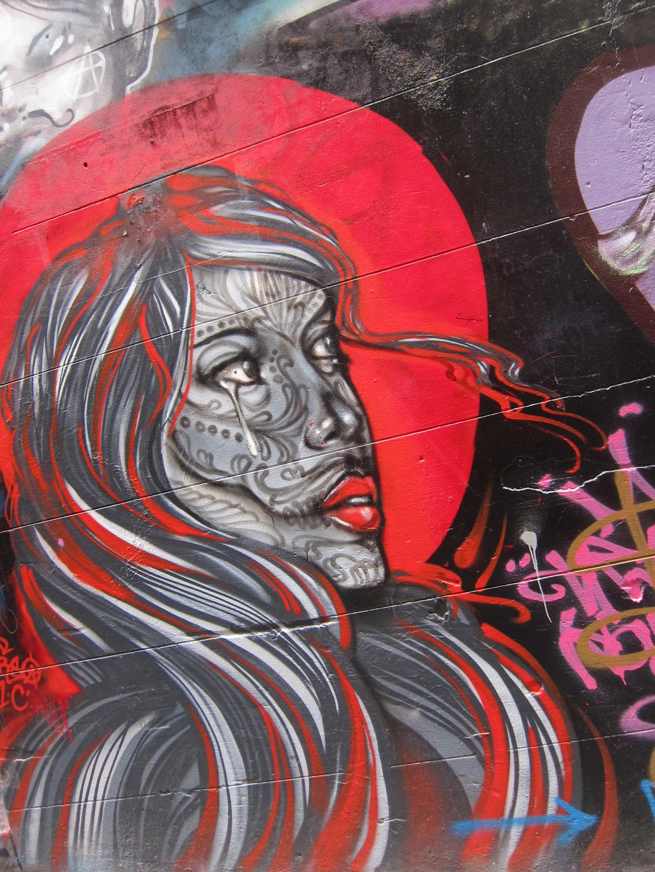 Grafiti wall red - Wall Red Color Graffiti Painting Street Art Art Vandalism Illustration Mural Melbourne Modern Art