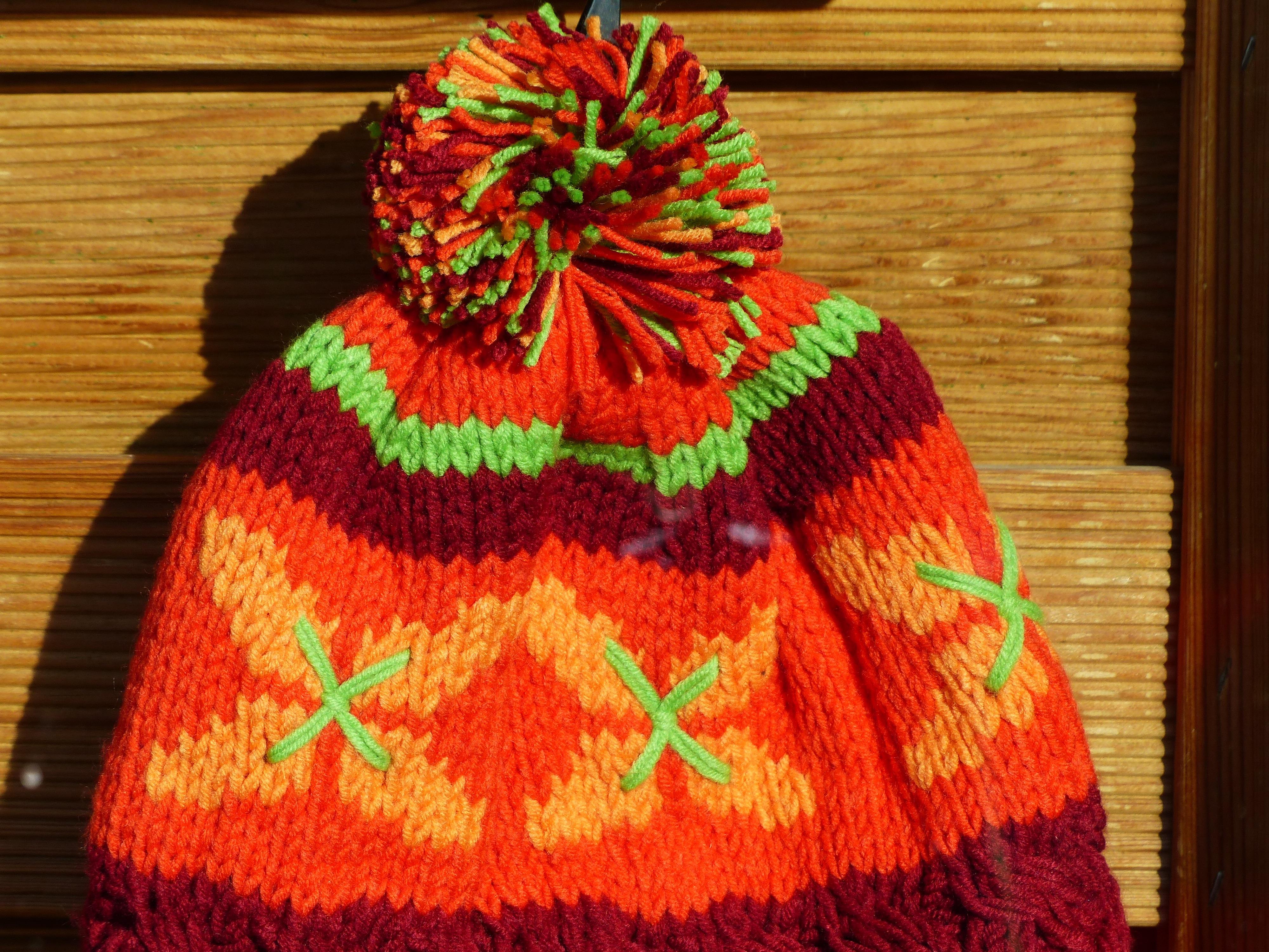 Kostenlose foto : warm, Orange, Muster, rot, Kleidung, bunt, Wolle ...